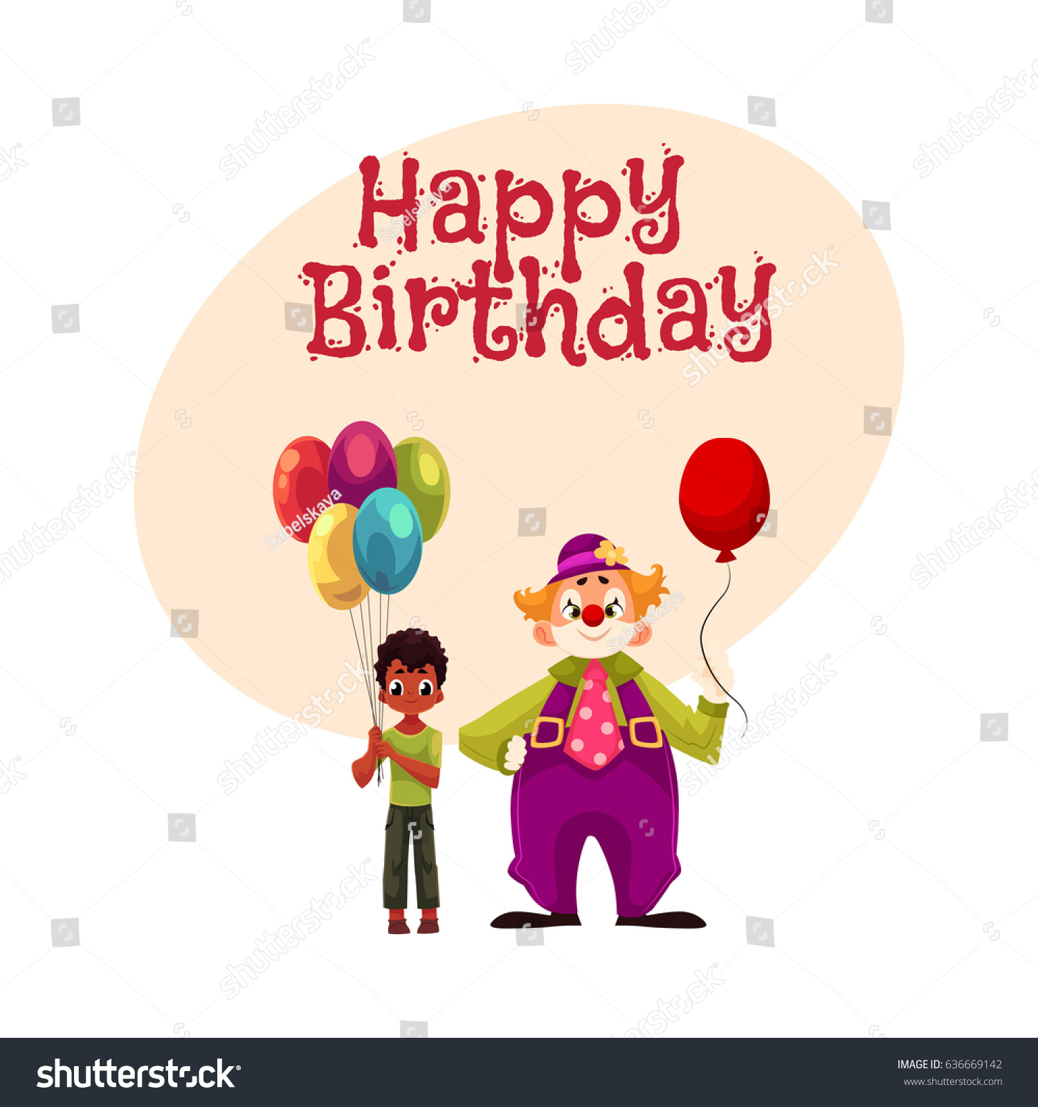 Happy birthday vector greeting card poster stock vector 636669142 happy birthday vector greeting card poster banner design with black african american boy kristyandbryce Images