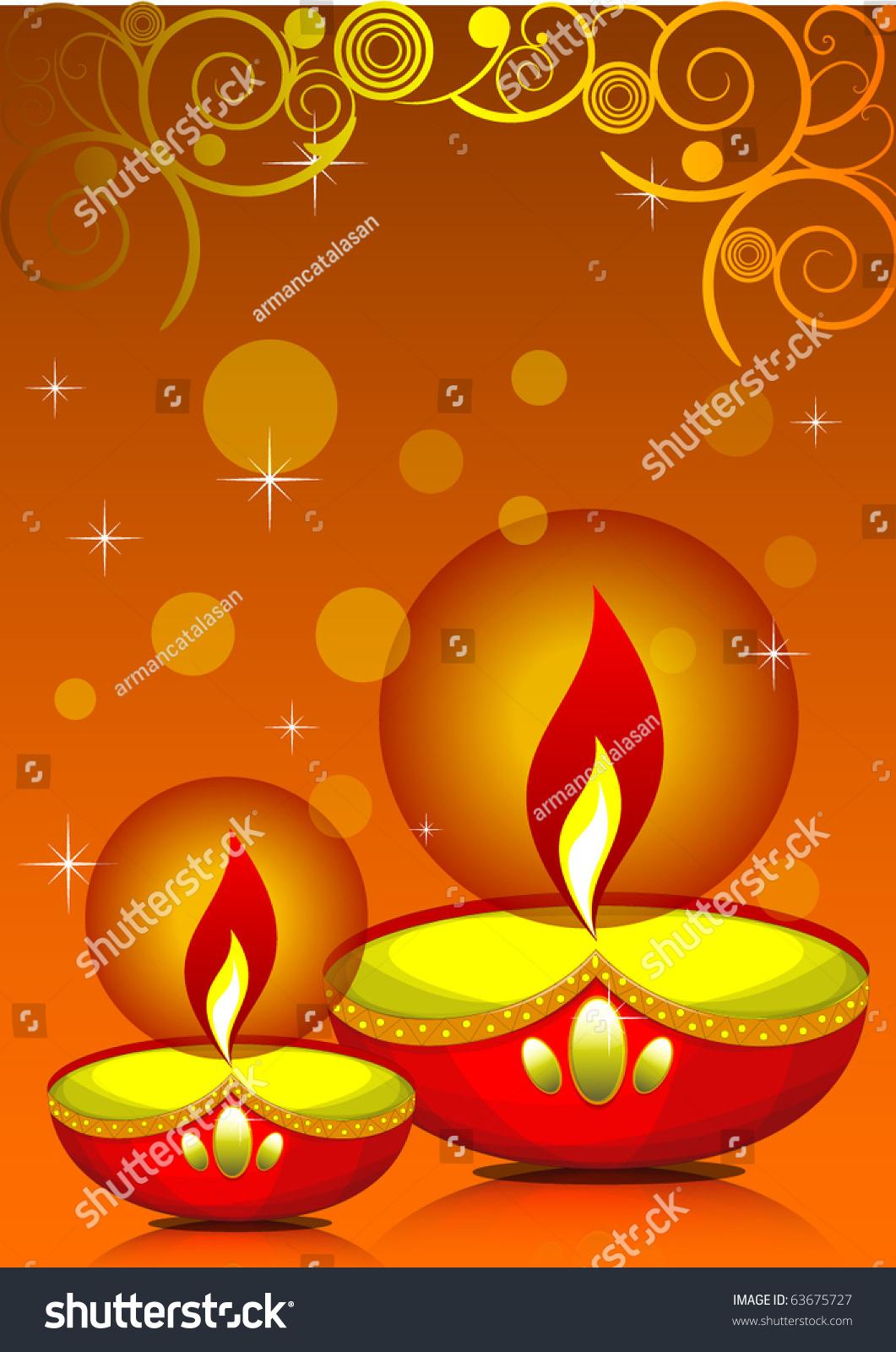 Diwali Greetings Stock Vector 2018 63675727 Shutterstock