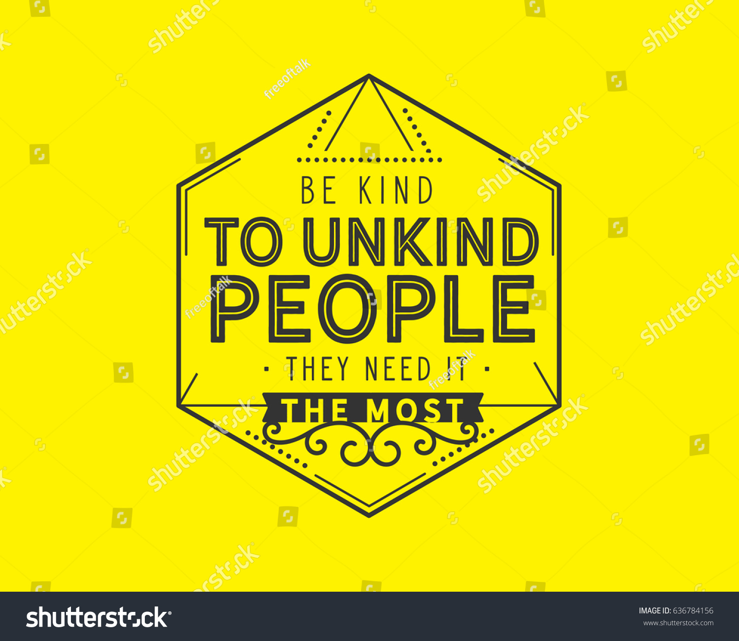 Be Kind Unkind People They Need Stock Vector Royalty Free