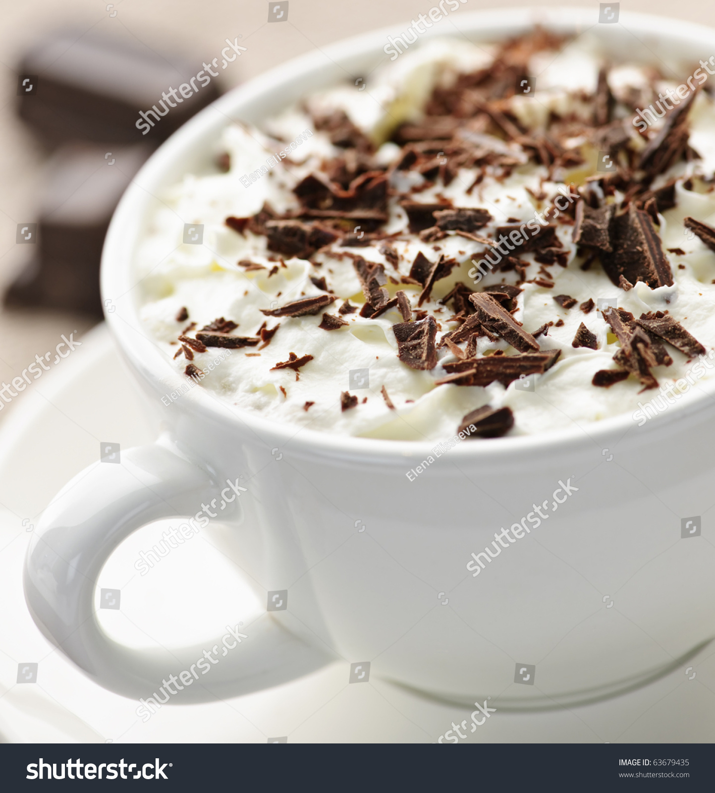 Shaved chocolate hot chocolate