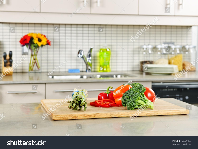 Modern Kitchen Interiors Modern Kitchen Interior Fresh Vegetables On Stock Photo 63679450