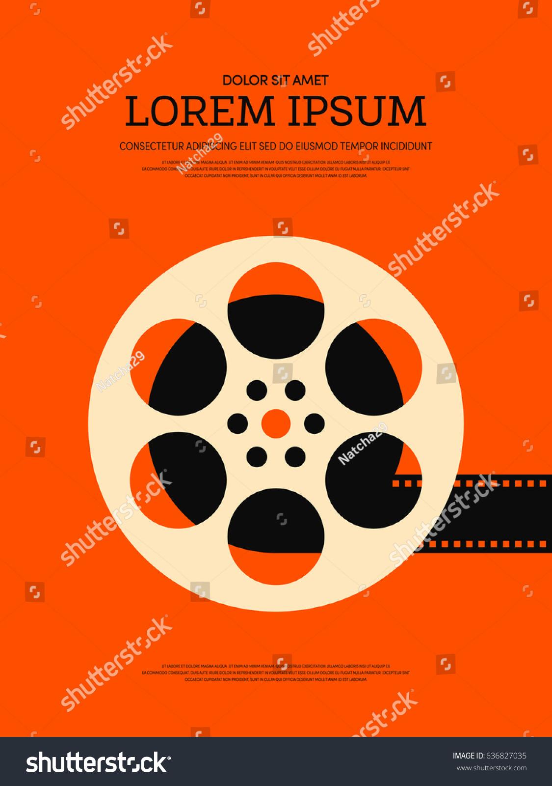movie film retro vintage style graphic stock vector
