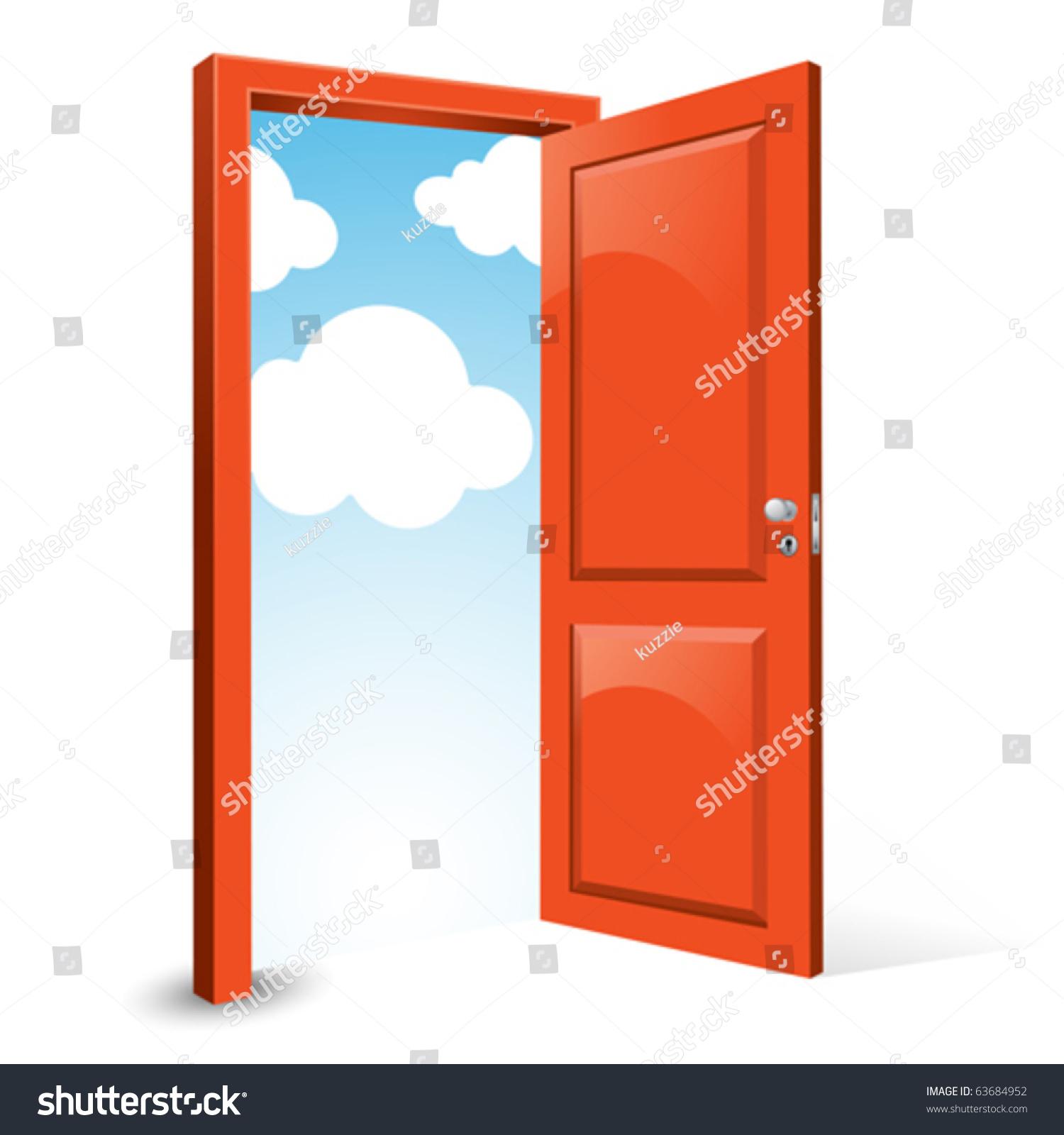 Open front door clipart open door stock vectors amp vector clip art