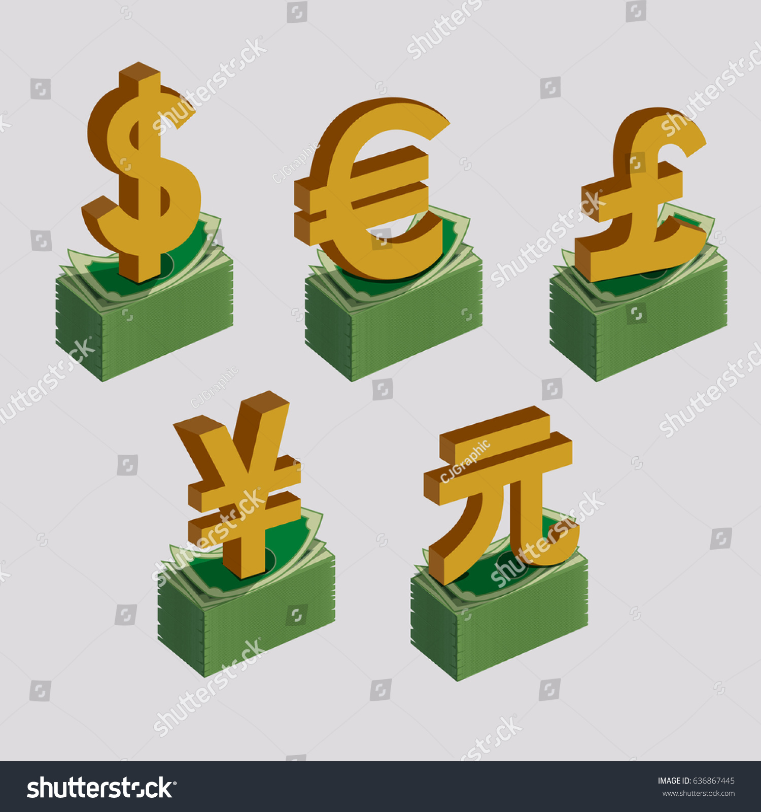 Currency symbols signs dollar euro pound stock vector 636867445 currency symbols signs of dollar euro pound yen and yuan sterling buycottarizona Choice Image