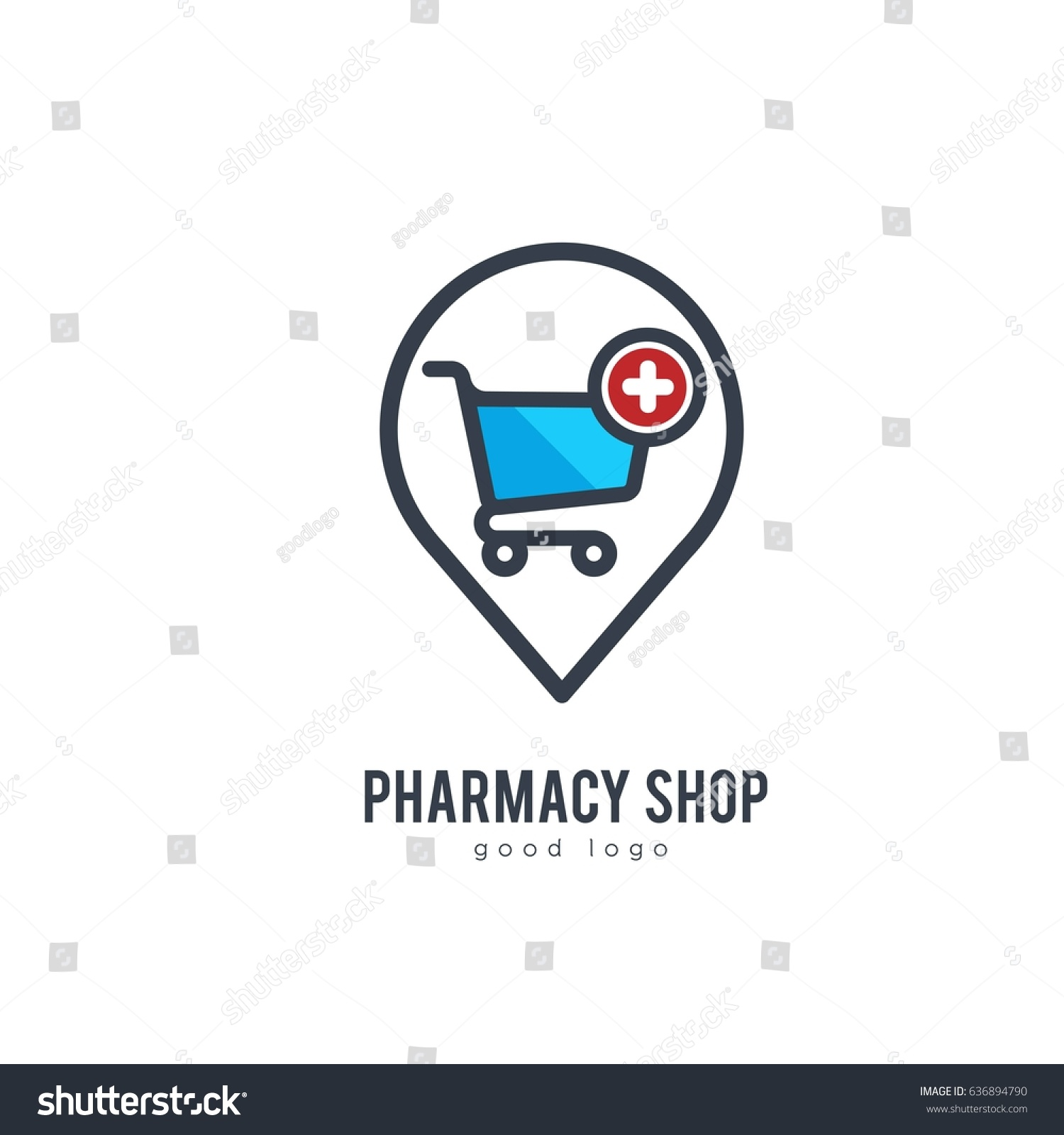 Medical Store Pharmacy Health Clinic Icon Stock Vector Royalty Free