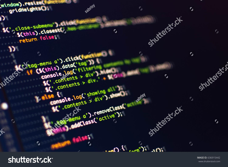 Software Development Software Source Code Programming Stock
