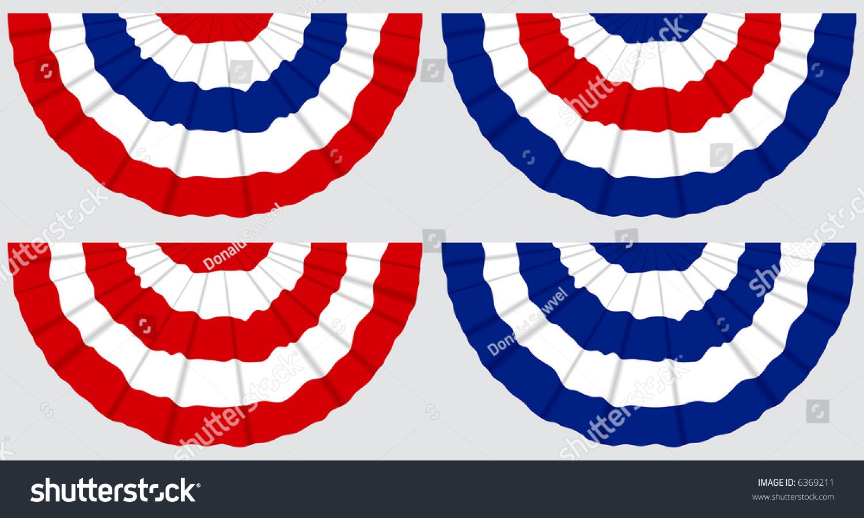 American Pleated Fan Flag USA American Bunting Decoration Logo Eh