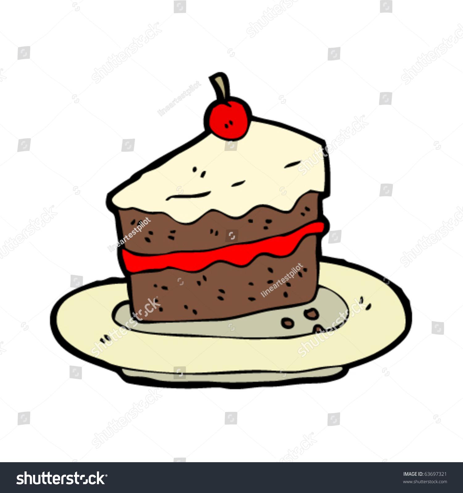 Birthday Cake Cartoon Drawing