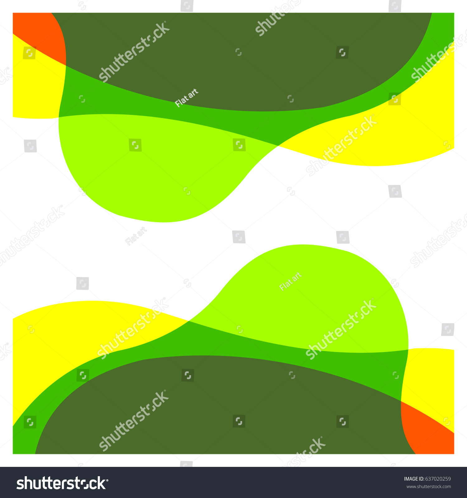 Abstract Green Yellow Orange Water Color Stock Photo (Photo, Vector ...
