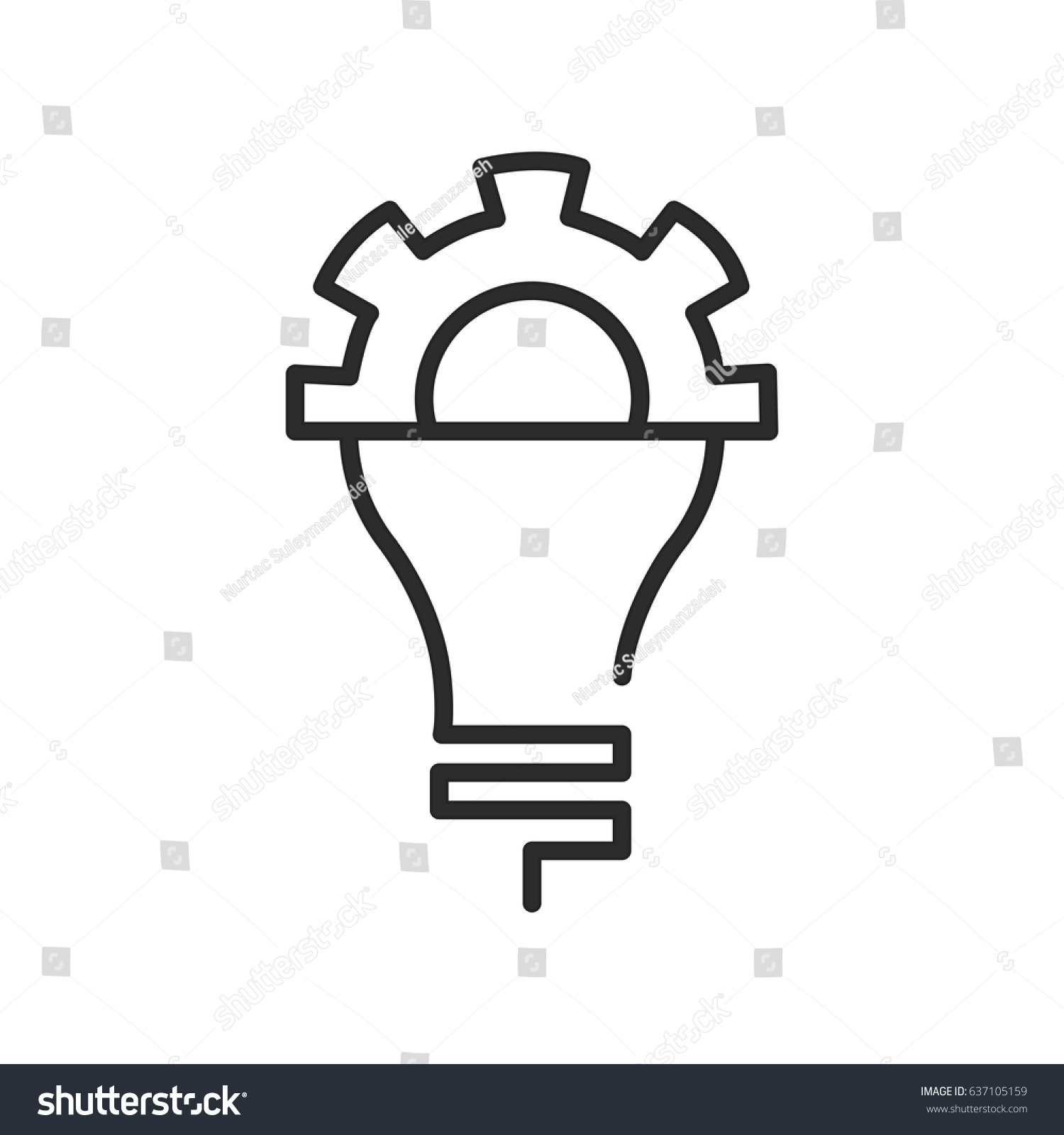 Knowledge Icon Lamp Vector Bulb Icon Stock Vector Royalty Free