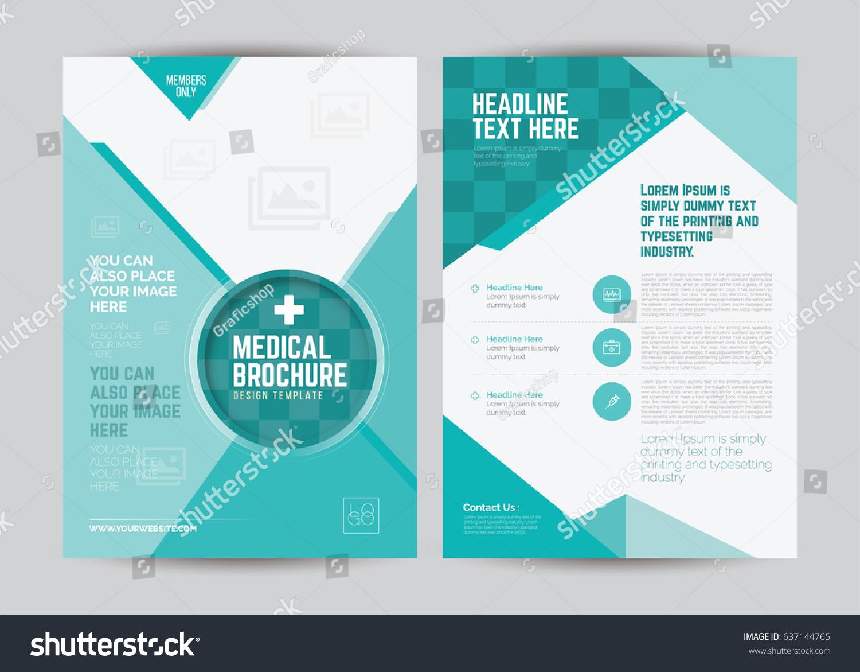 a4 medical flyer brochure layout template medical brochure design