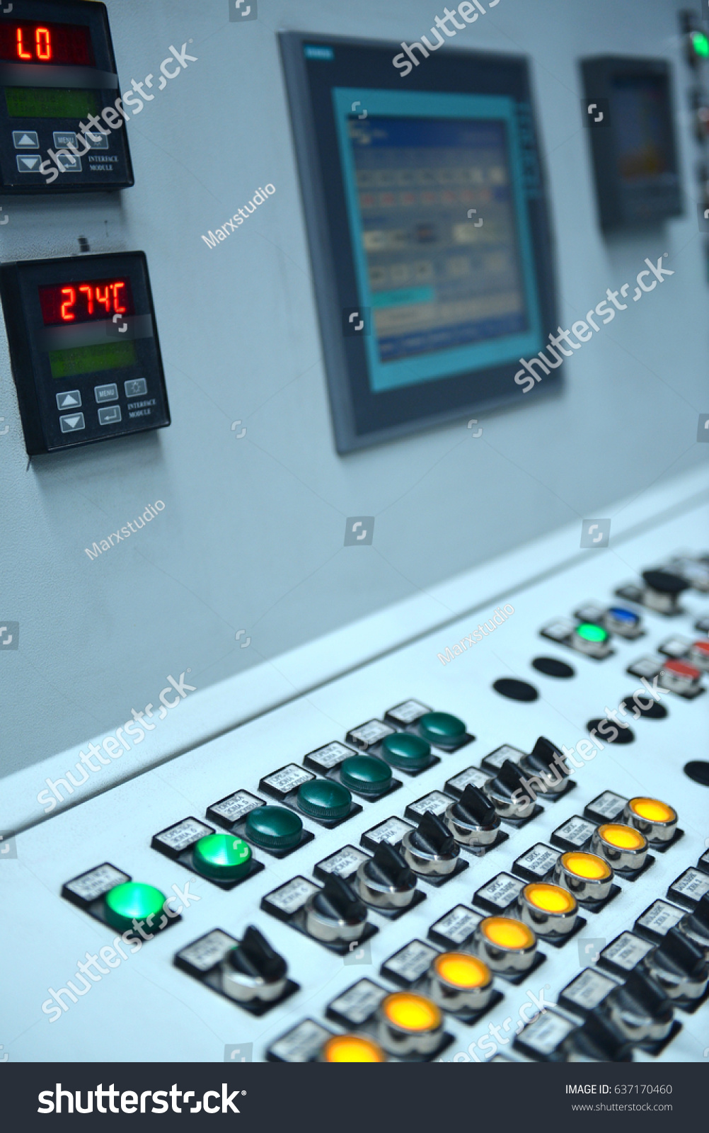Electrical Control Panel Buttons Levers Stock Photo (Safe to Use ...