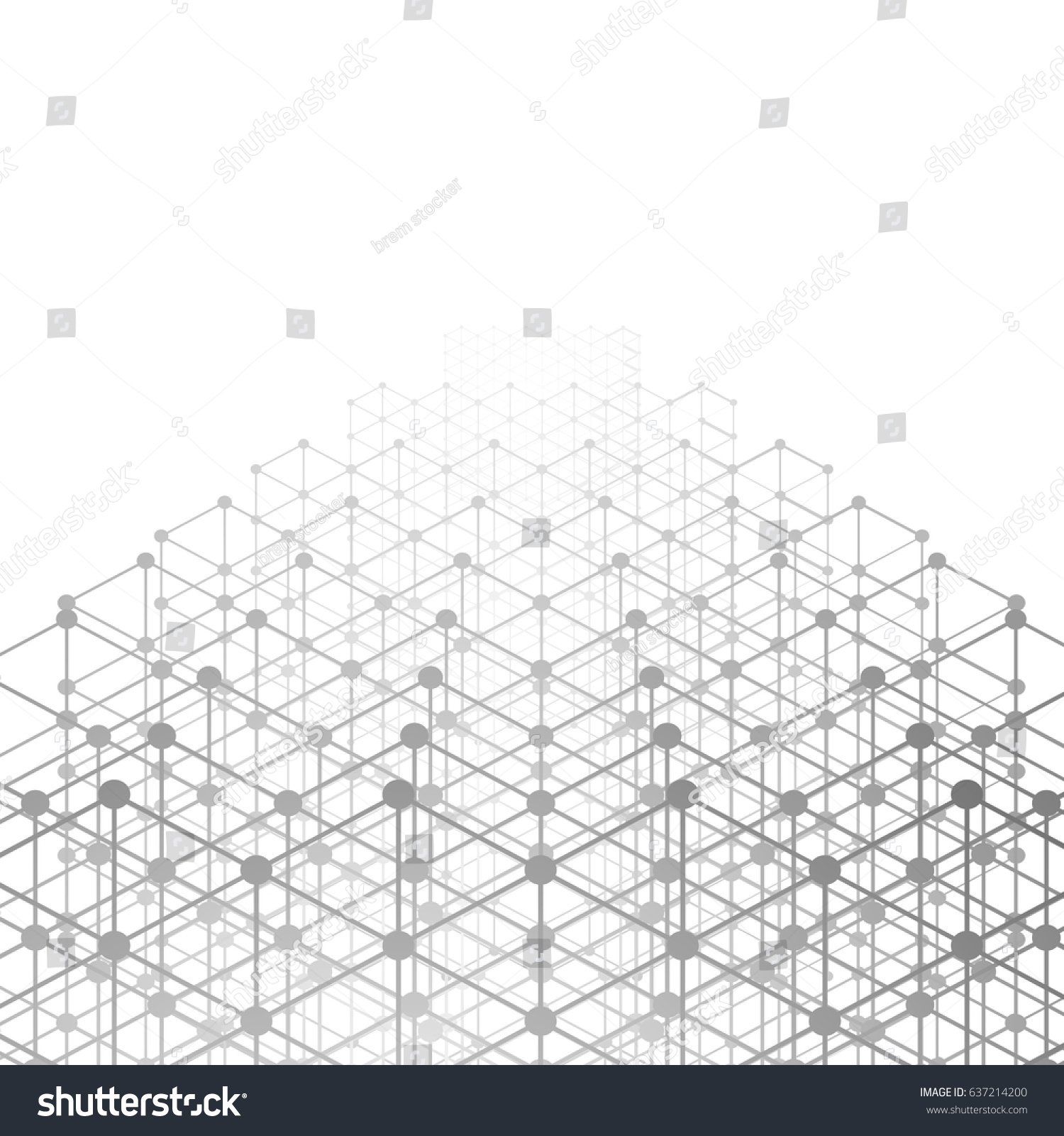 light background triangles template style design 3 d stock vector