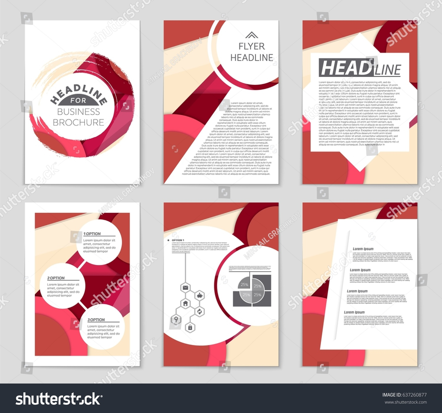 Abstract Vector Layout Background Set Art Stock Vector (Royalty Free ...