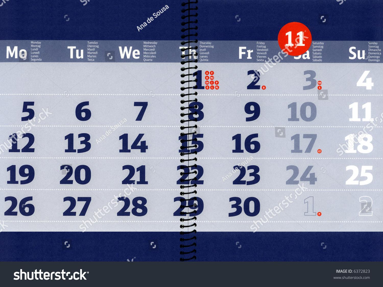 November 2007 Calendar Over Open Notebook Stock Photo Edit Now