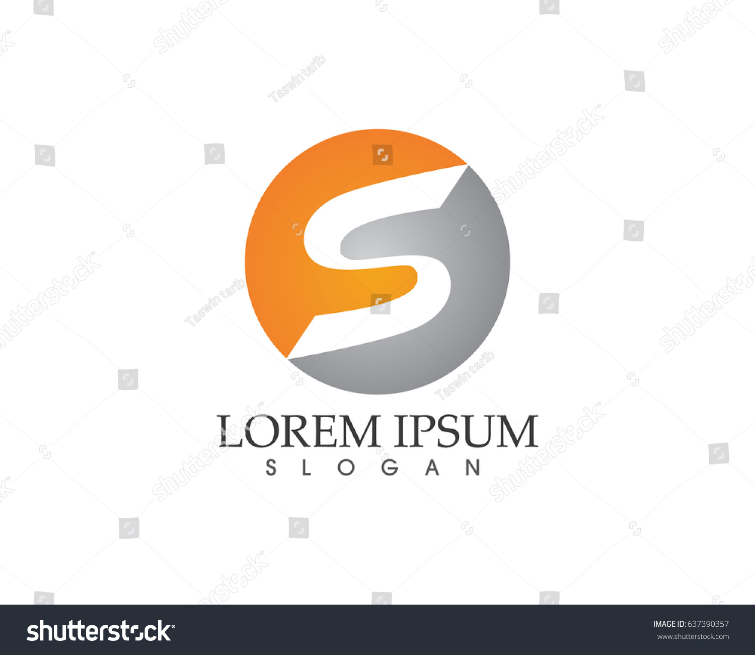 S Business Letters Logo Stock Vector 637390357