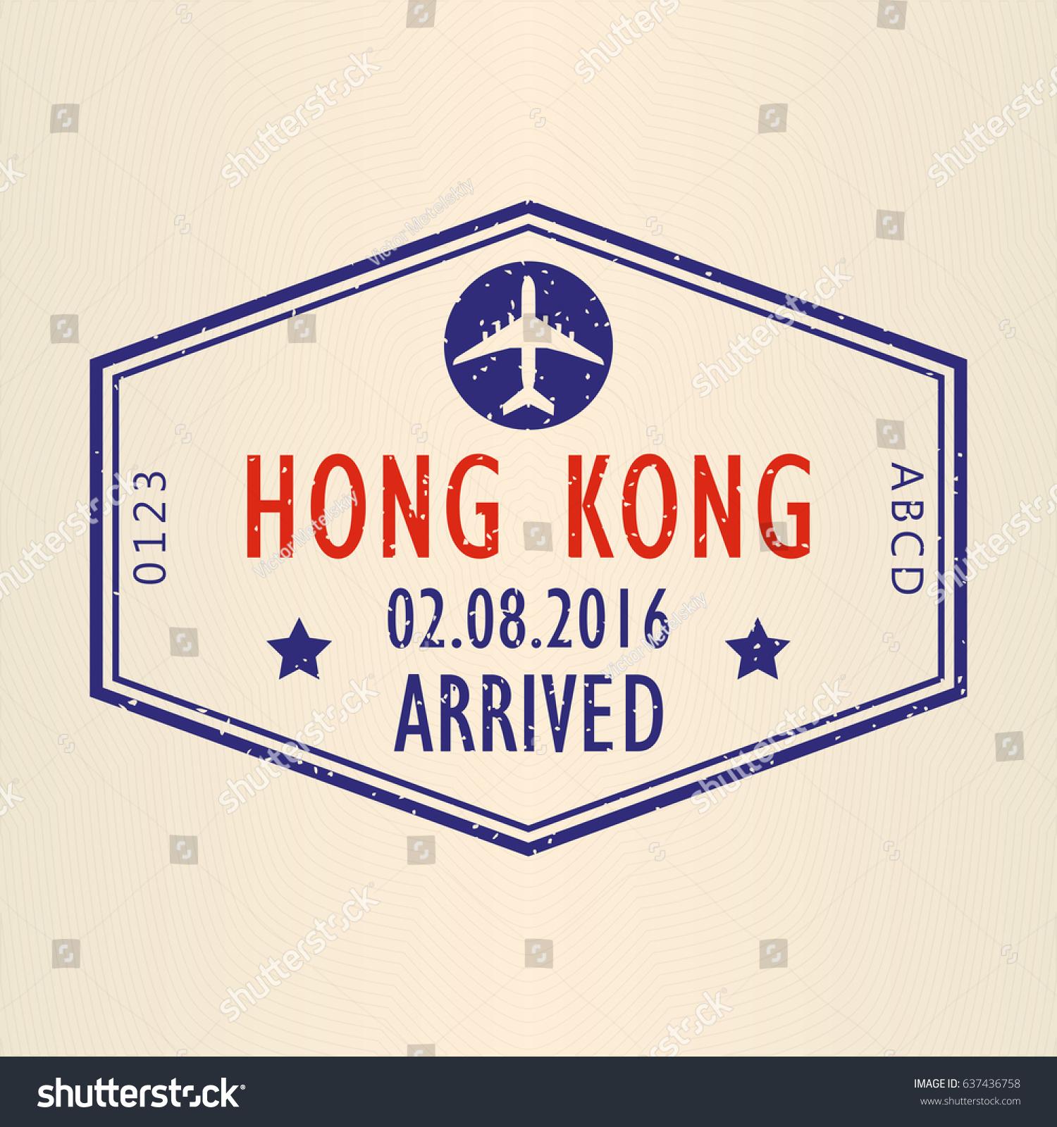 Hong kong visa arrival stamp passport stock illustration 637436758 hong kong visa or arrival stamp from passport hong kong travel stamp airport sign biocorpaavc Choice Image