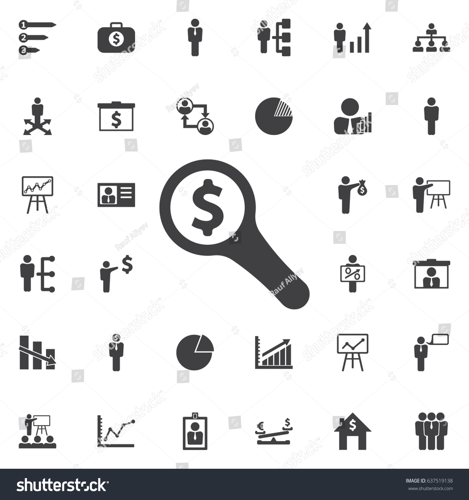 Looking money icon business icons set stock vector 637519138 looking for money icon business icons set biocorpaavc Choice Image