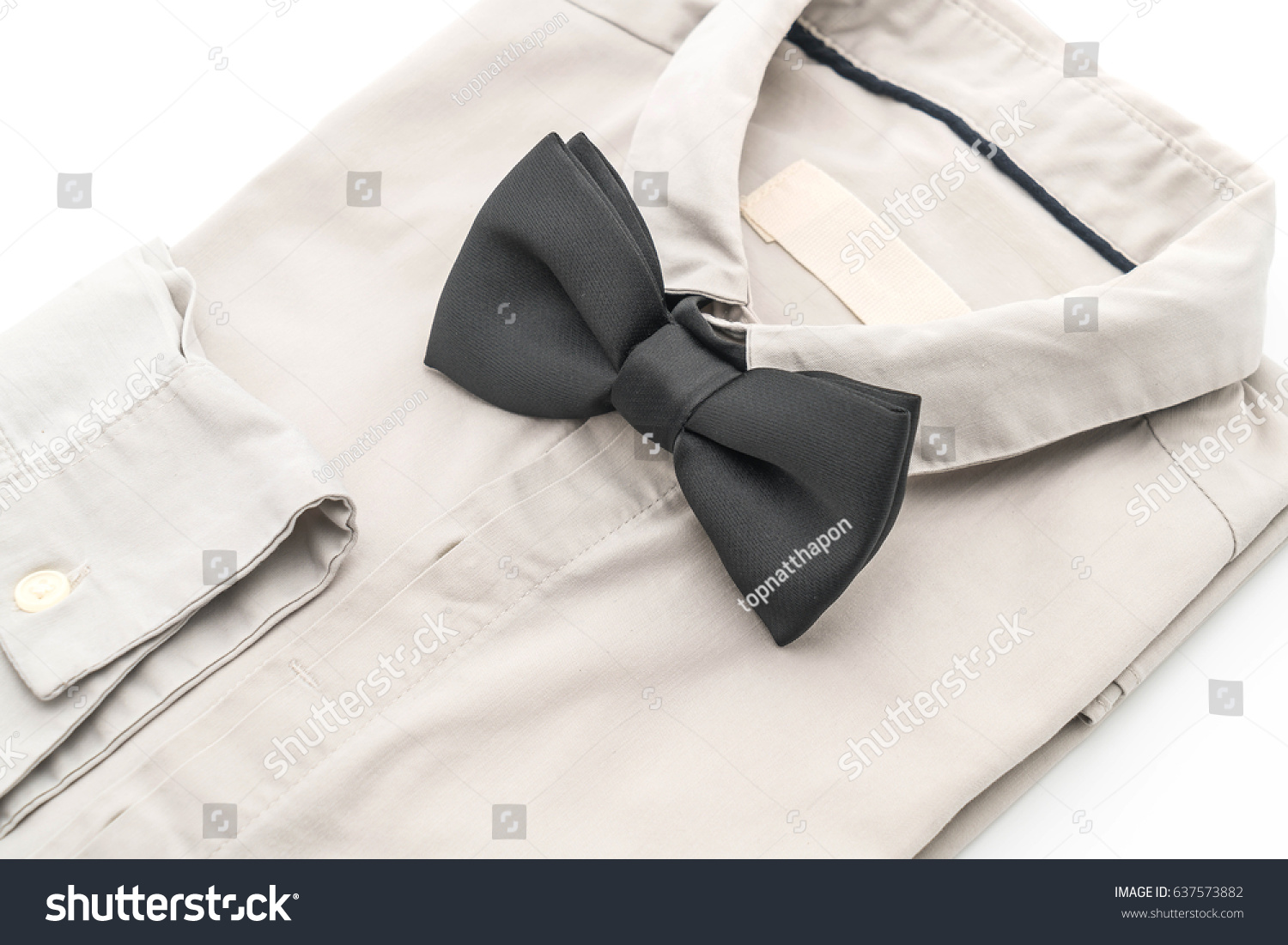 shirt with bow tie on white background #637573882