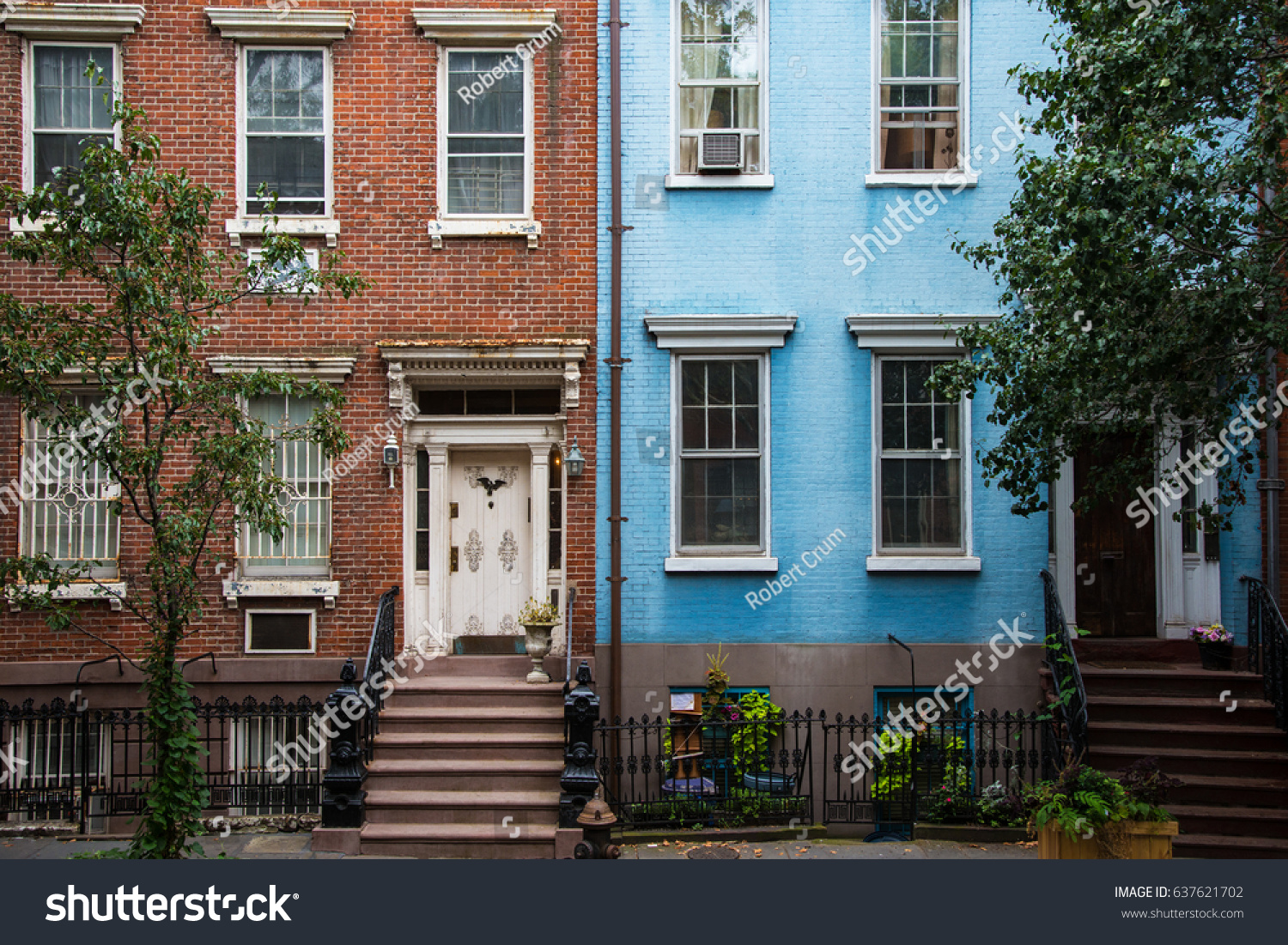 old apartment buildings greenwich village new の写真素材 今すぐ