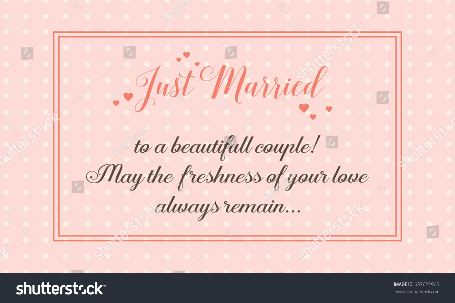 Wedding Greeting Card Simple Style Vector Stock Vector 2018