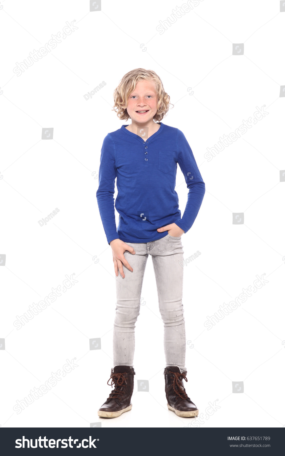 Young Boy Posing At Studio As A Fashion Model Stock Photo Image Male Models Picture