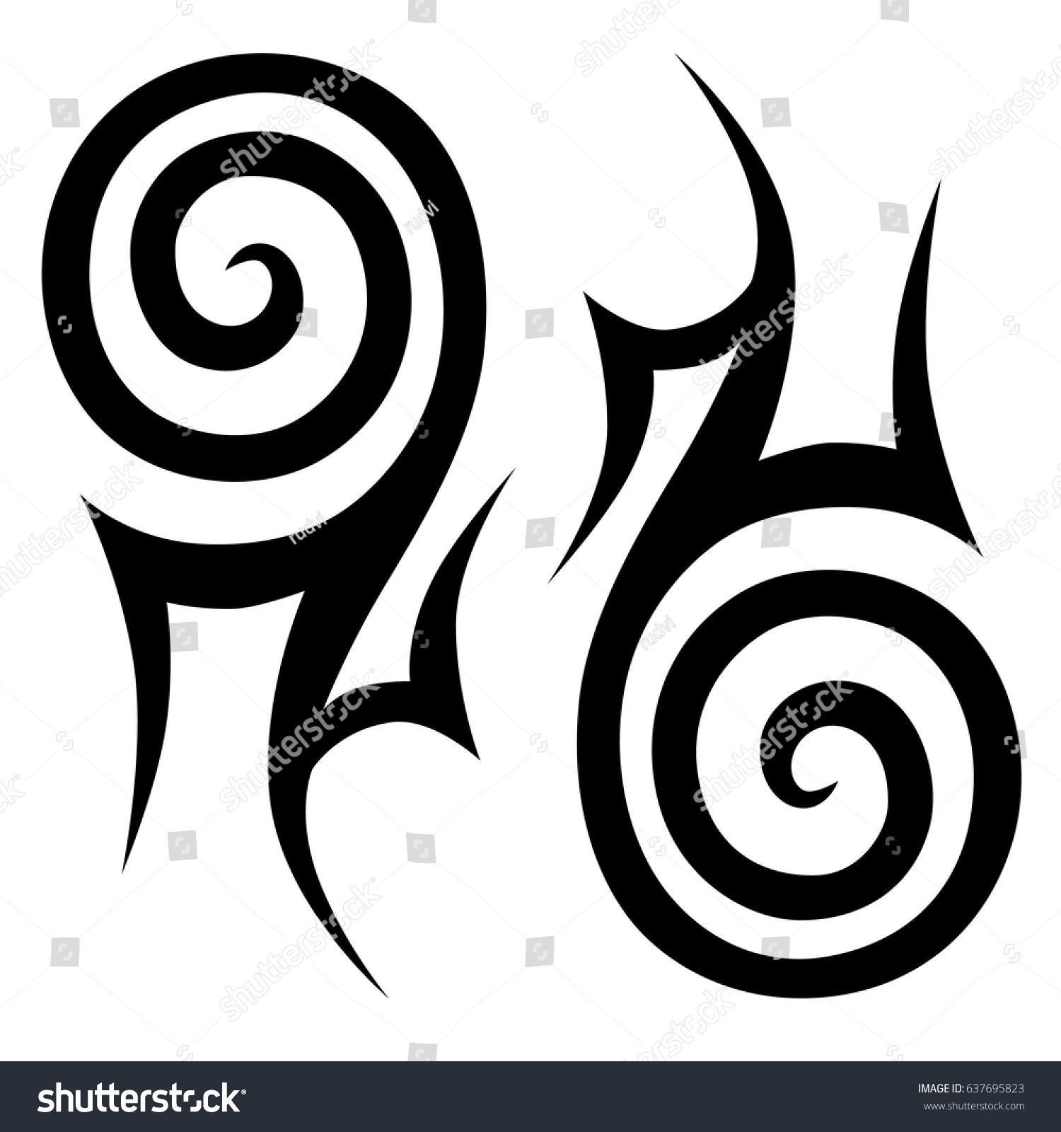 Tattoo Maori Tribal Ornament Polynesian Tattoo Stock Vector Royalty
