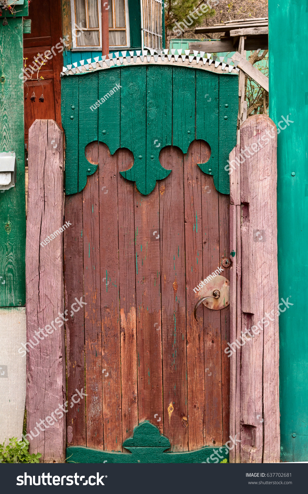 Old Ancient Wicket Door With An Old Fence Rustic House : wicket door kit - pezcame.com