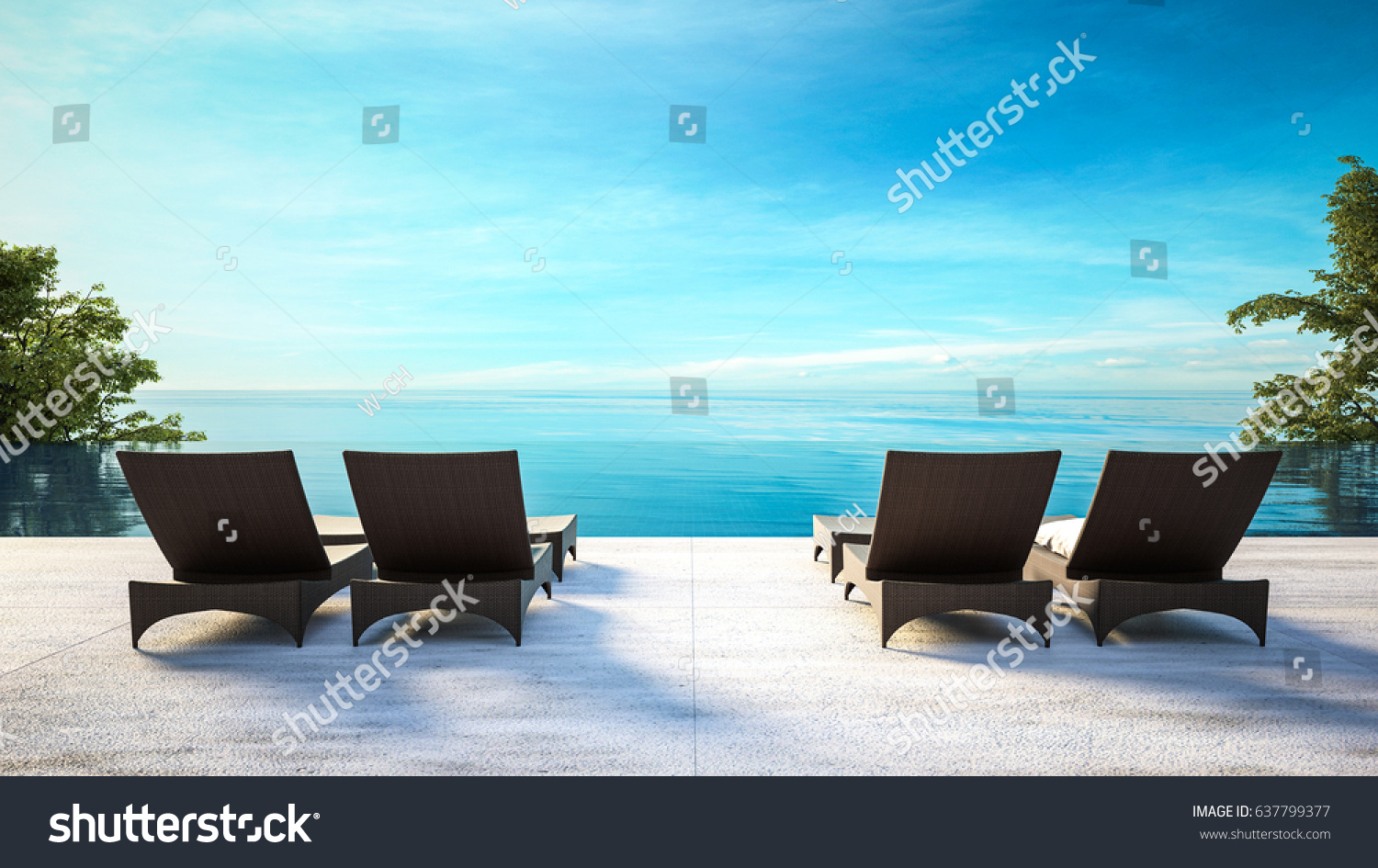 Beach lounge black outdoor chaise on stock illustration for Beach lounge chaise