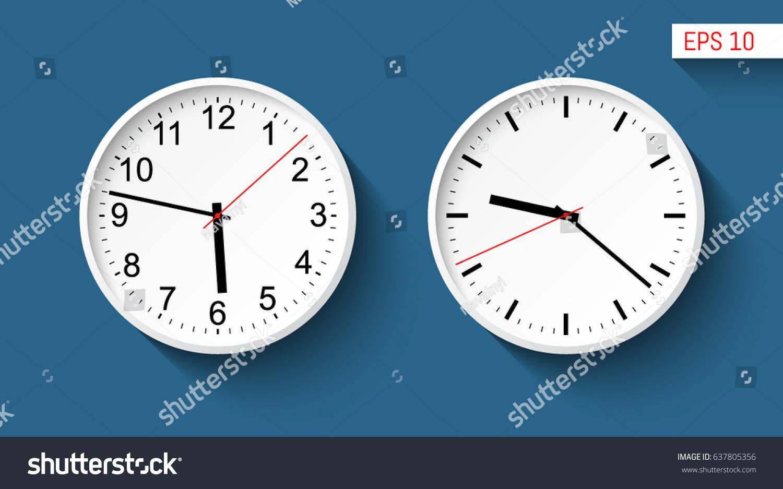 Classic Wall Clocks Design Set White Stock Vector (Royalty Free ...