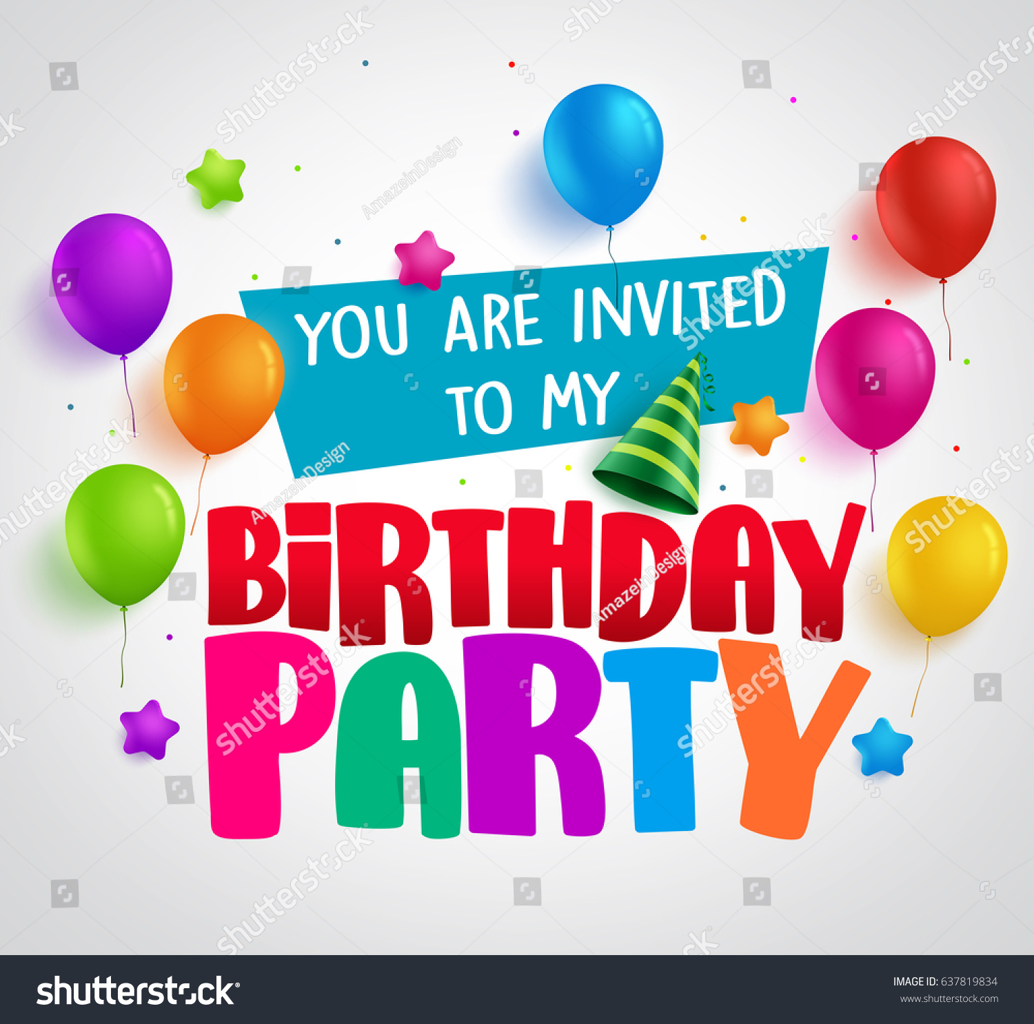 Birthday Party Invitation Background Vector Design Vector – Party Invitation Background