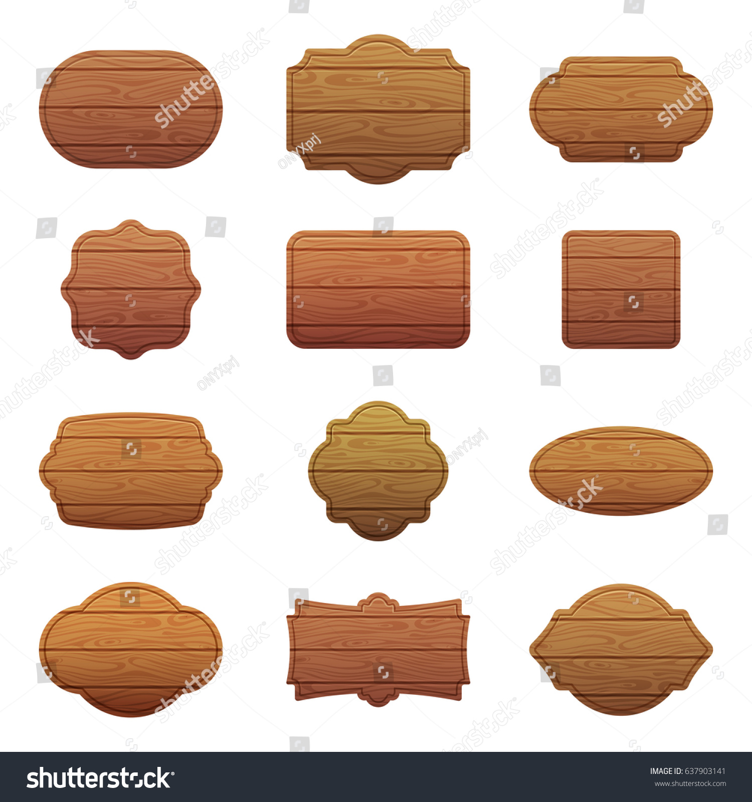 An experiment with the different world religions a clear and empty - Illustration Set Of Different Shapes With Wooden Texture Empty Vector Banners With Place For Your