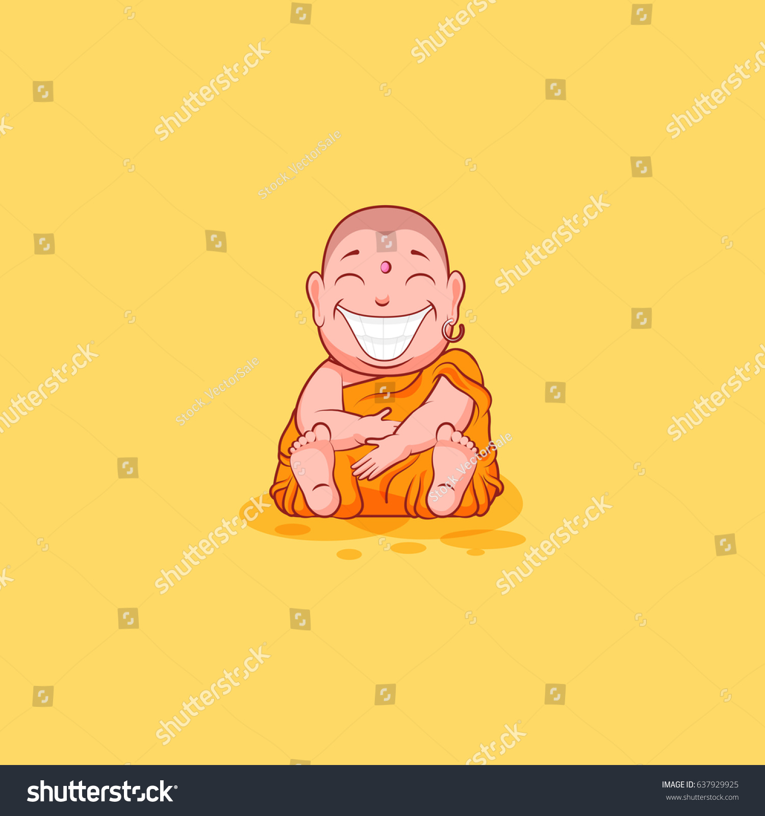 Sticker emoji emoticon emotion vector isolated stock vector sticker emoji emoticon emotion vector isolated illustration happy character sweet cute cartoon buddha huge smile from biocorpaavc Image collections