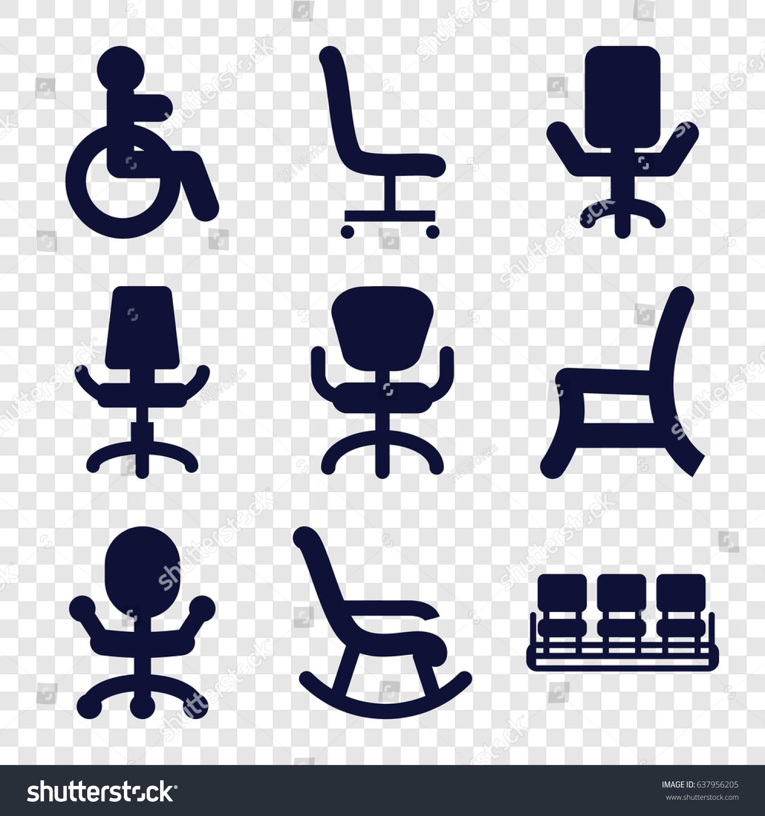 Armchair Icons Set Set 9 Armchair Stock Vector 637956205 - Shutterstock
