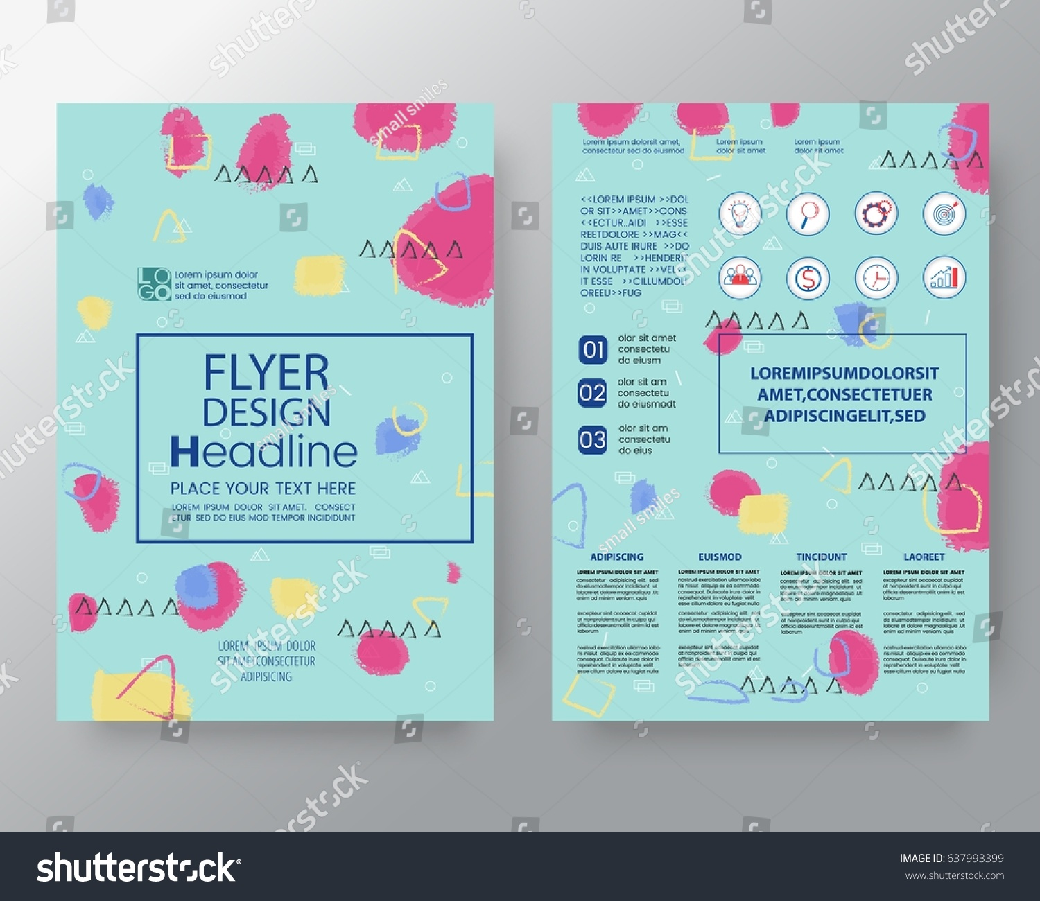 Poster design size - Memphis Art Background For Corporate Identity Brochure Annual Report Cover Flyer Poster Design Layout Vector