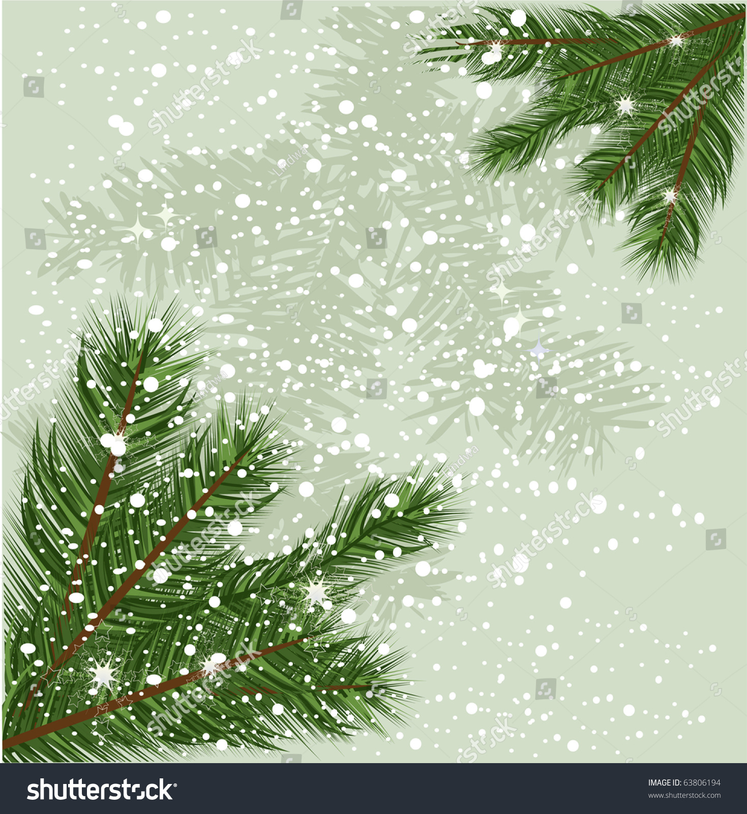 christmas tree branch vector - photo #25