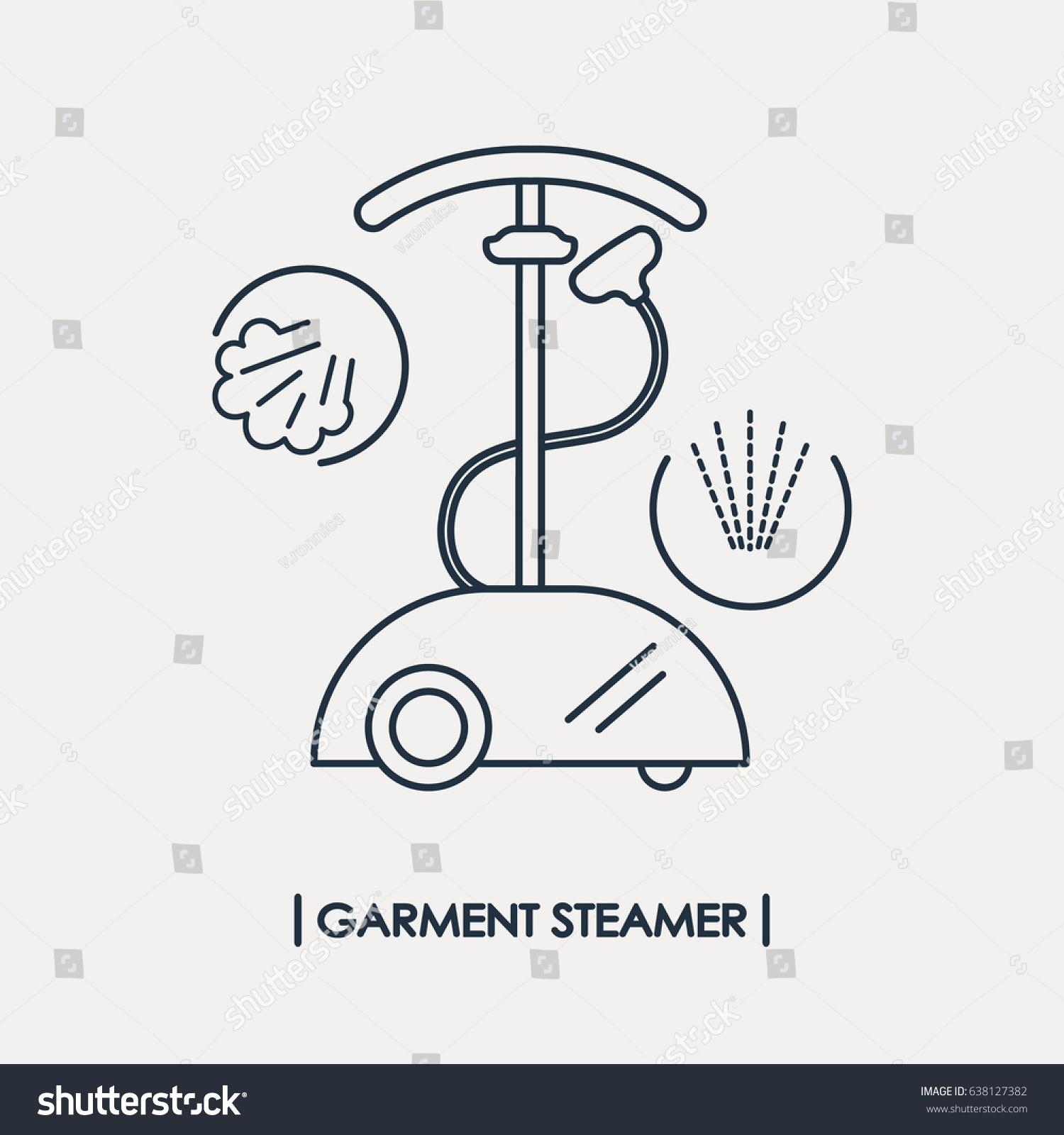 Line Style Garment Steamer Icon Outline Stock Vector