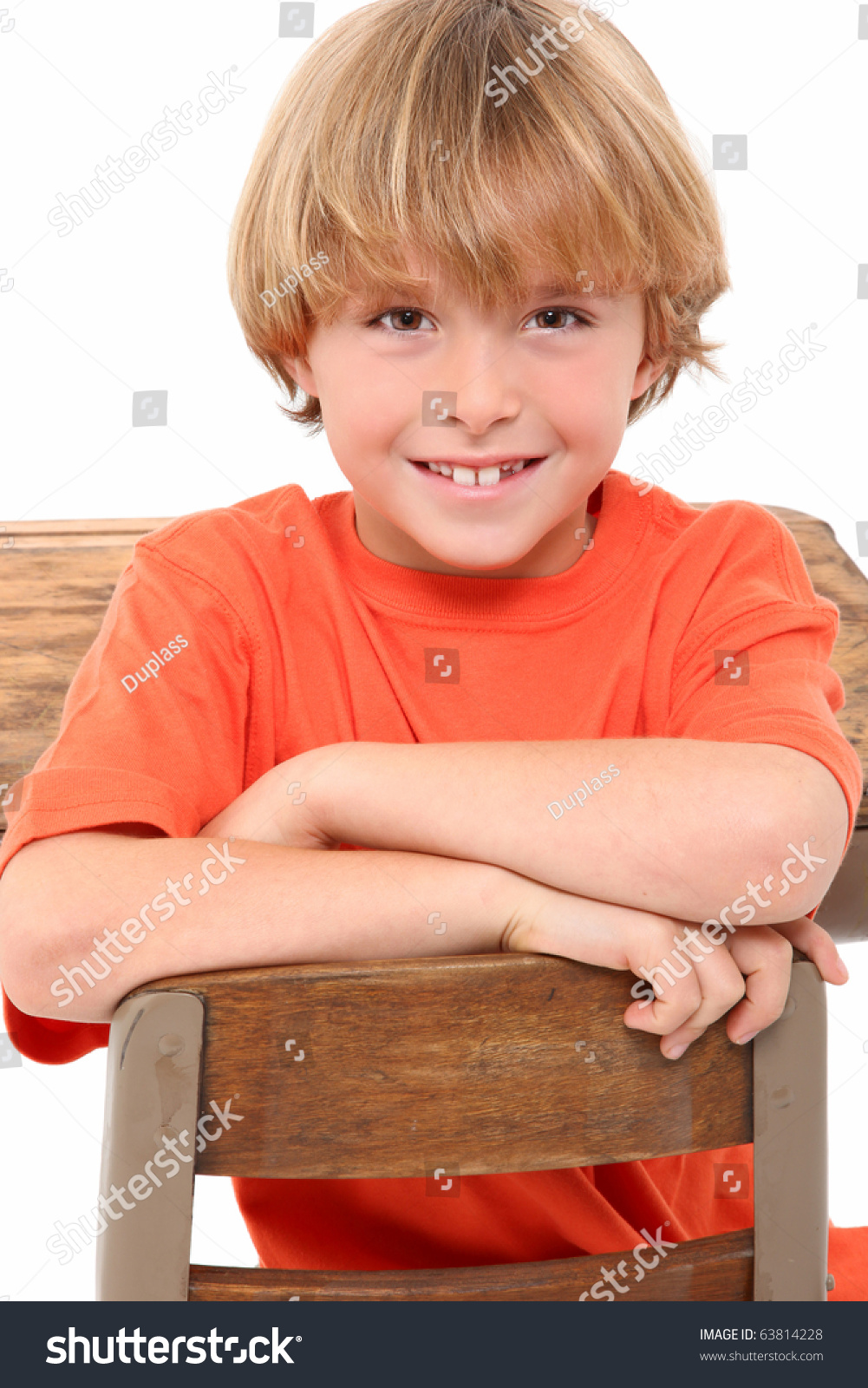 8 Year Boy Bedroom Design: Attractive 8 Year Old Boy Elementary Stock Photo 63814228