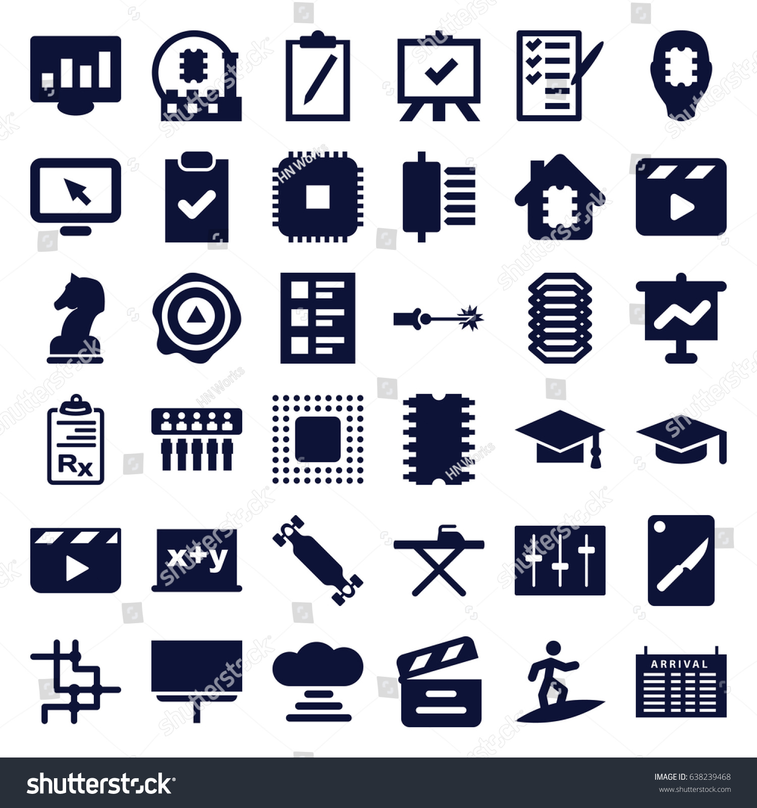 Board icons set set 36 board stock vector 638239468 shutterstock board icons set set of 36 board filled icons such as arrival table ironing buycottarizona