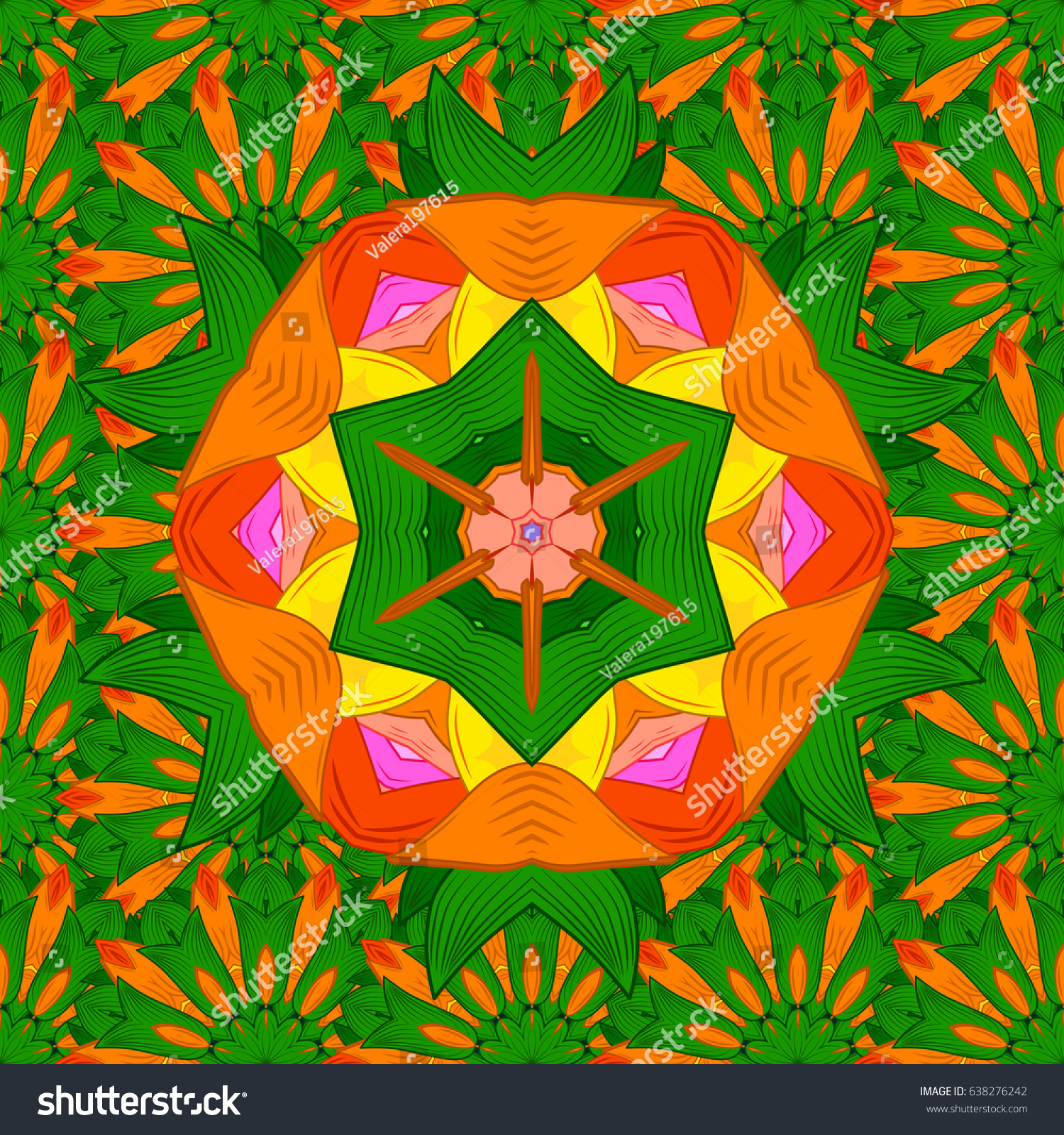 Tiled mandala design, best for print fabric or papper and more ...
