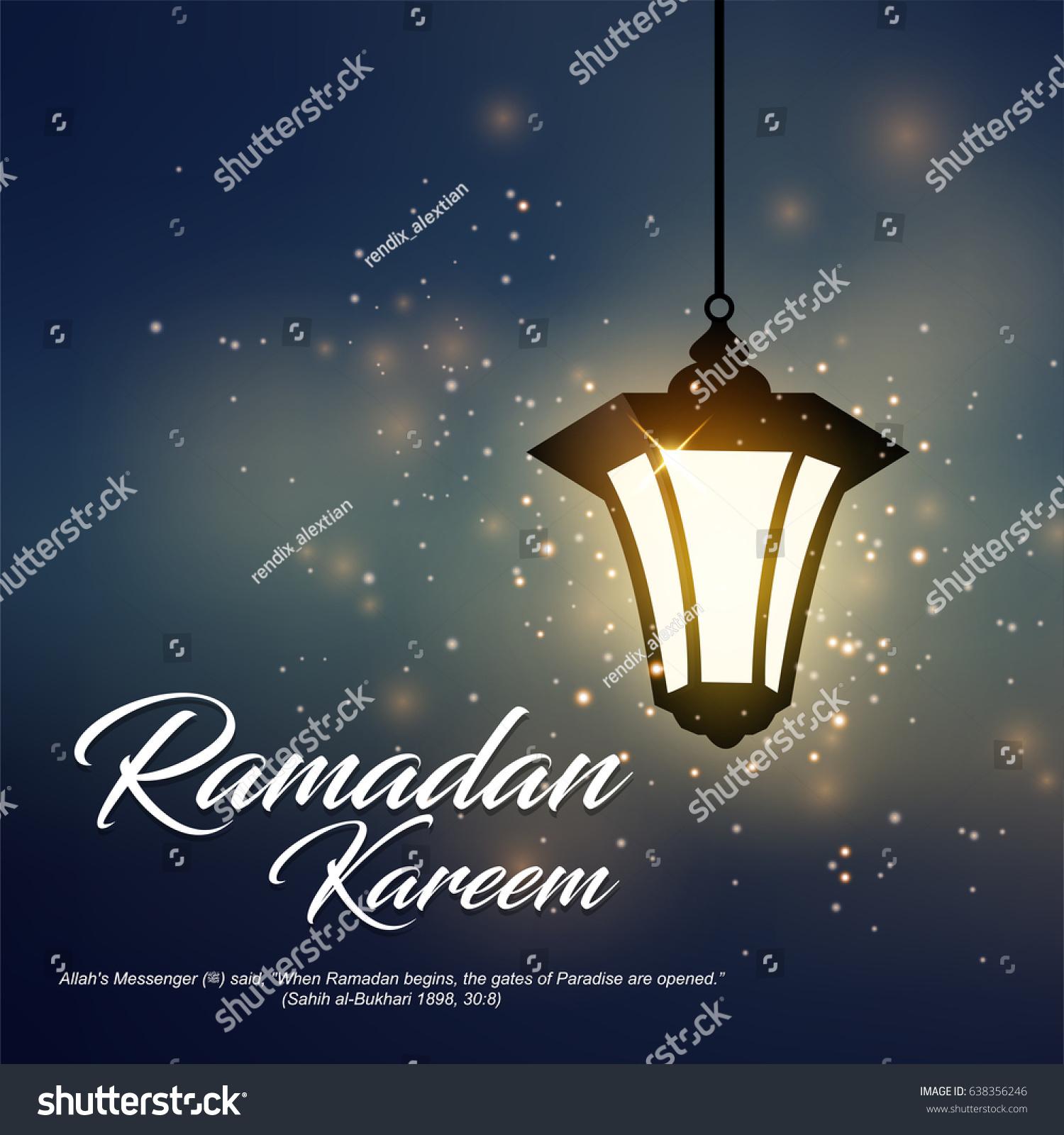 Ramadan Kareem Greeting Suitable Islamic Religion Stock Illustration