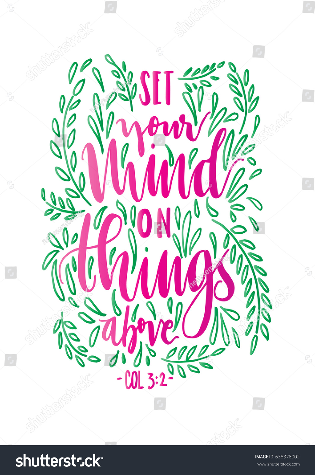 Set Your Mind On Things Above Stock Vector 638378002