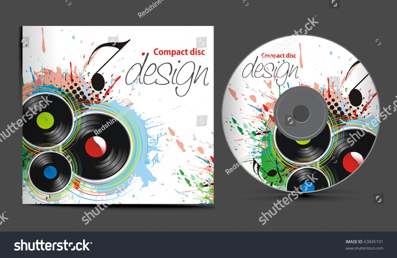 Vector Cd Cover Design Template Copy Stock Vector 63845191 ...