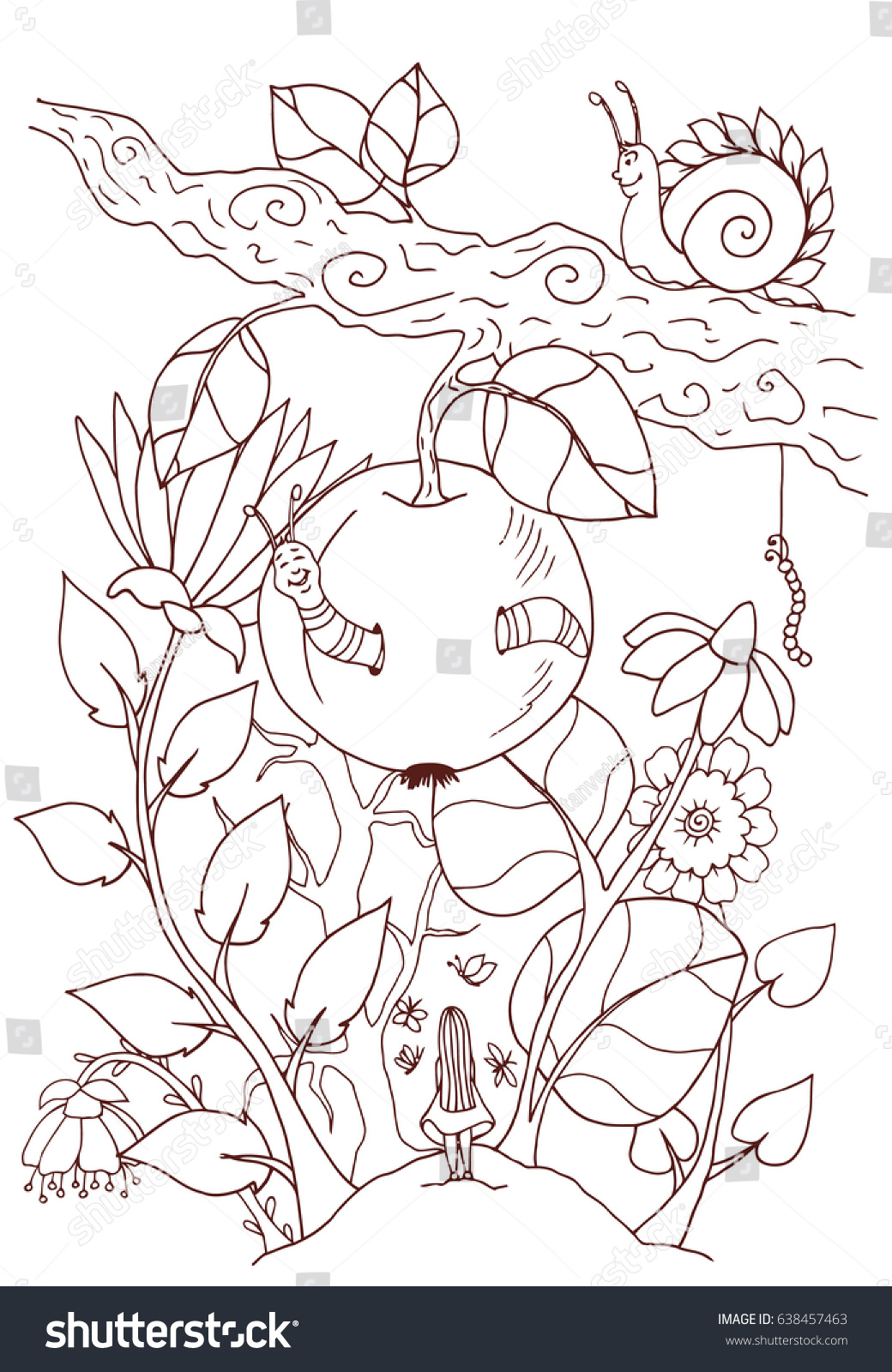 vector illustration coloring page anti stress stock vector