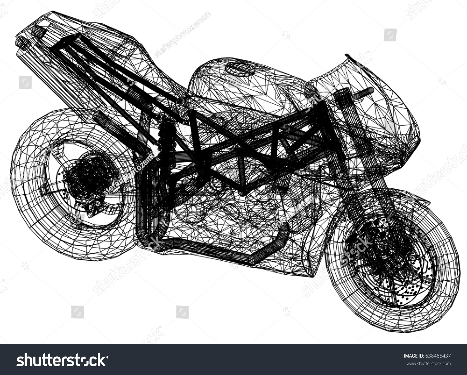 Blueprint motorcycle 3 d perspective stock illustration 638465437 blueprint motorcycle 3d perspective malvernweather Gallery