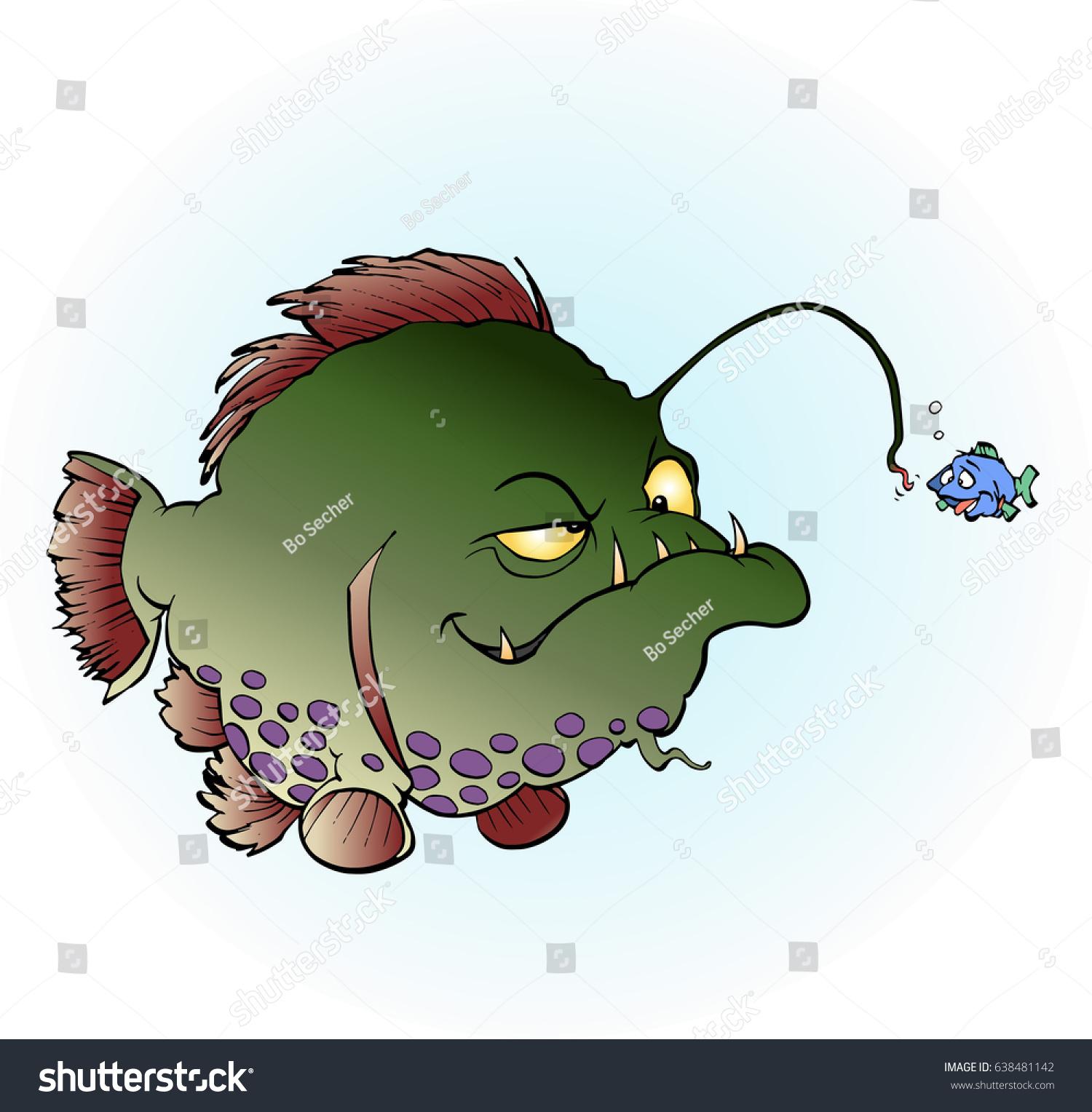 Big Fish Cheating Little Fish Cartoon Stock Vector (Royalty Free ...