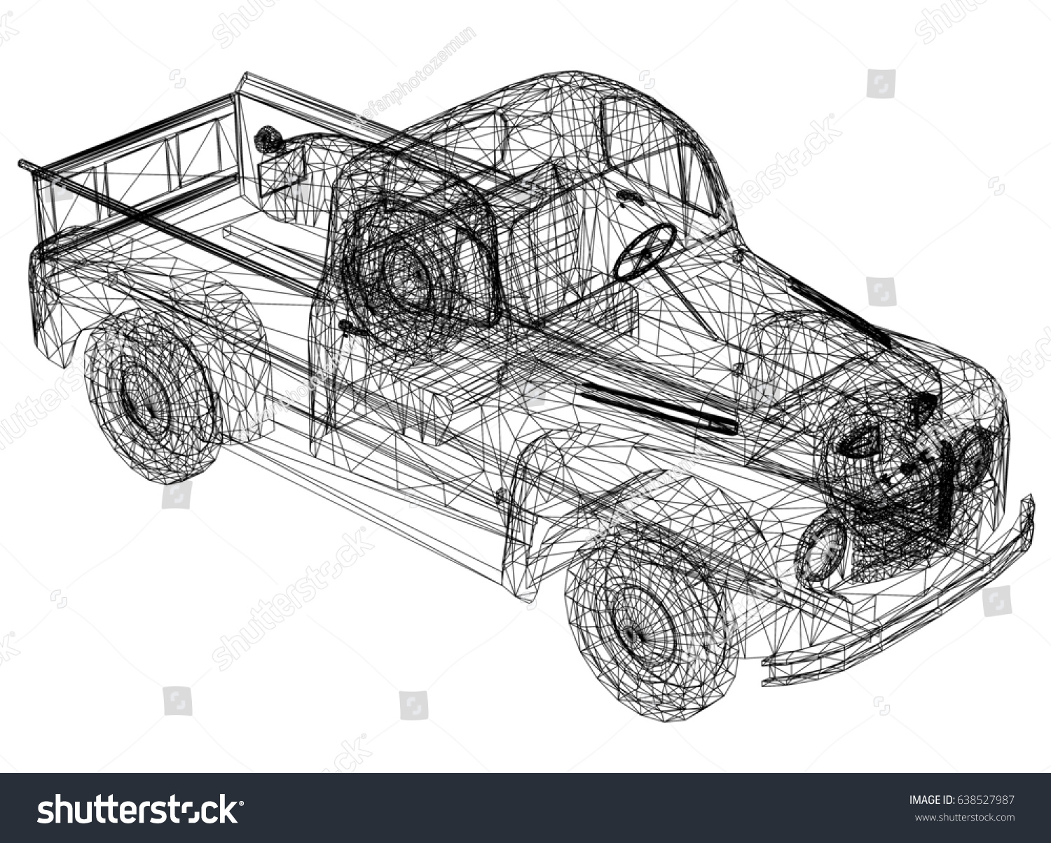 Car Drawing 3 D Perspective Stock Illustration 638527987 - Shutterstock