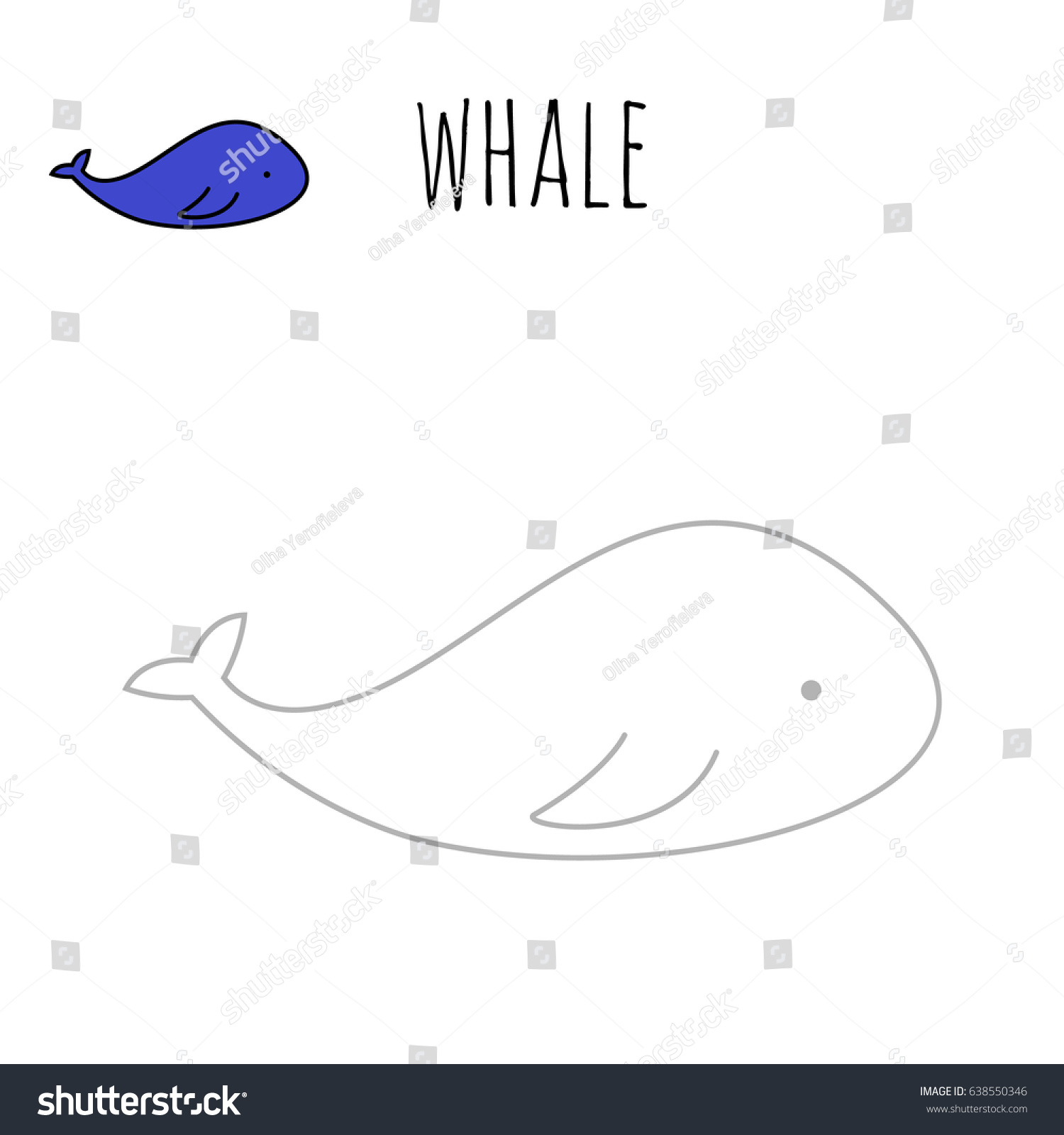 coloring pages whale painting page game stock vector 638550346