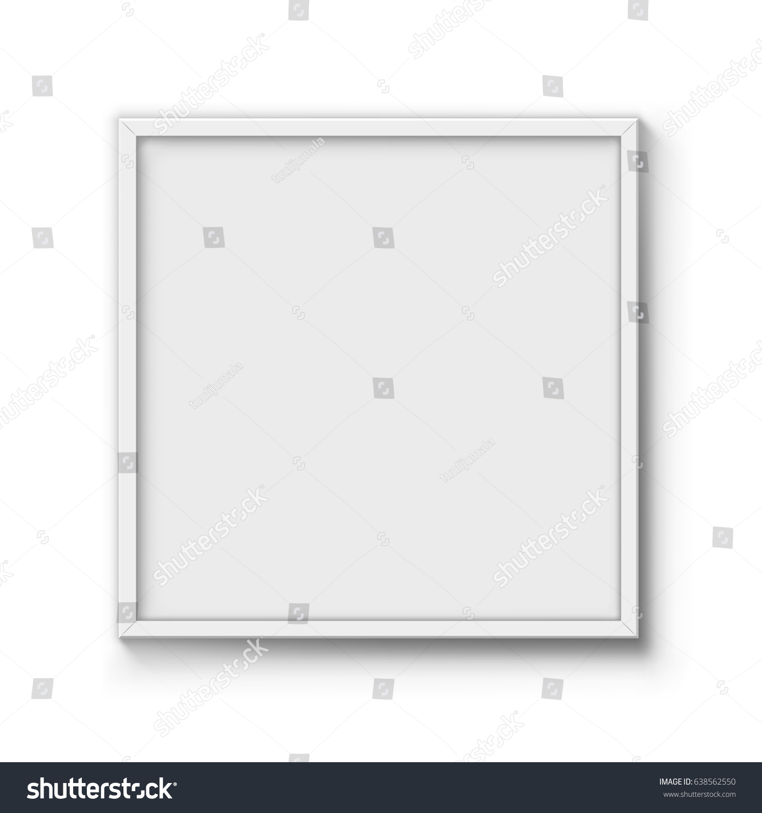 Blank Poster Frame Vector Template Wall Stock Vector (Royalty Free ...
