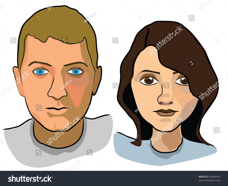 Sample Avatars Stock Vector 63856918 - Shutterstock